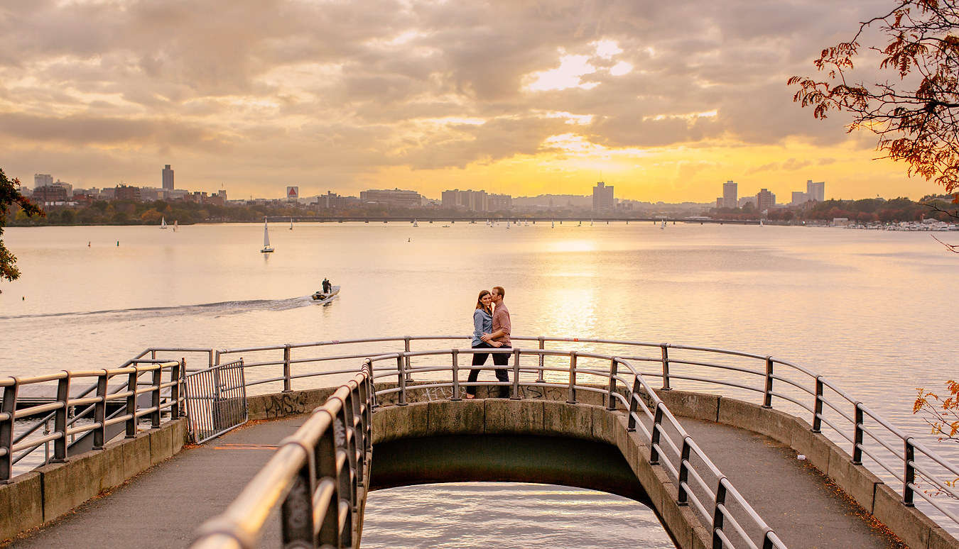 creative new england engagement sessions on the charles river esplanade