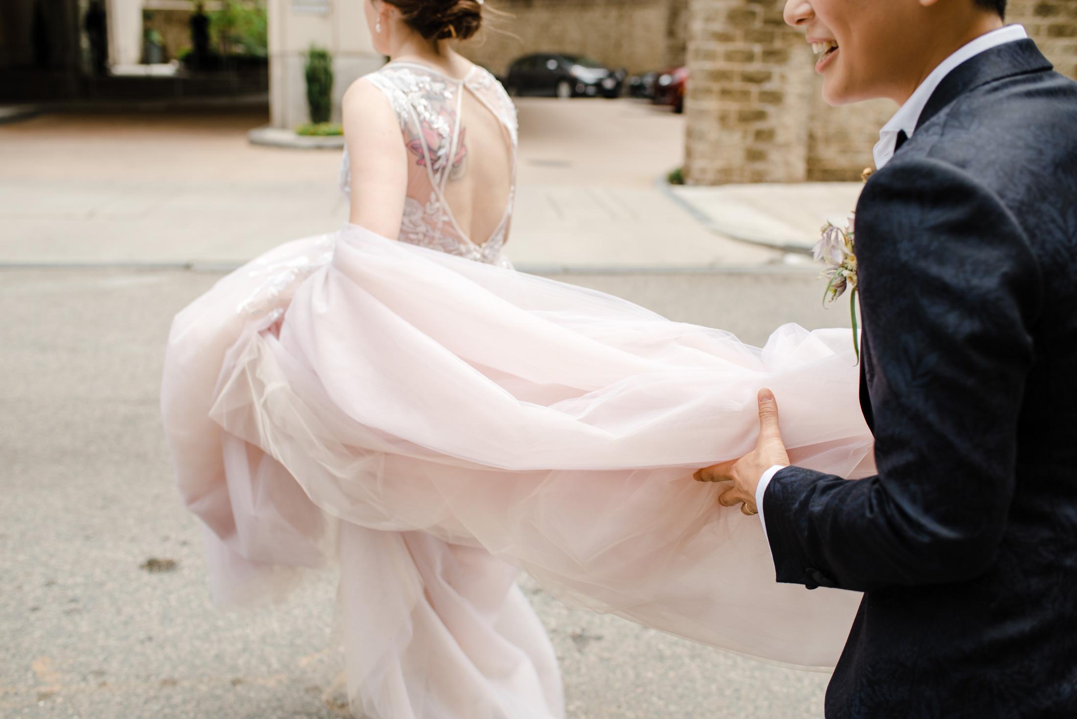 gay wedding downtown photos and wedding inspiration