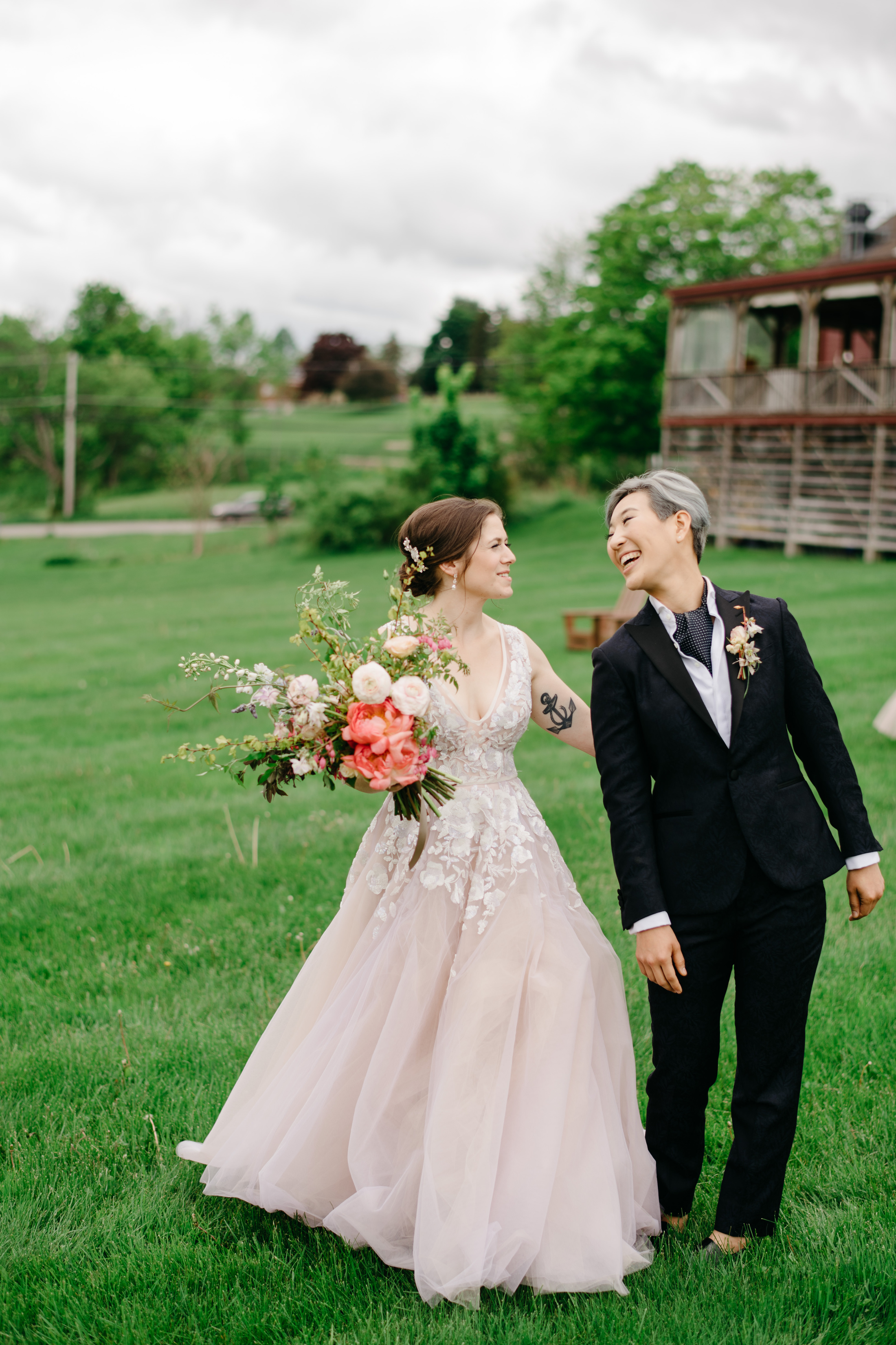 boston featured vogue style editorial wedding with two lovely brides