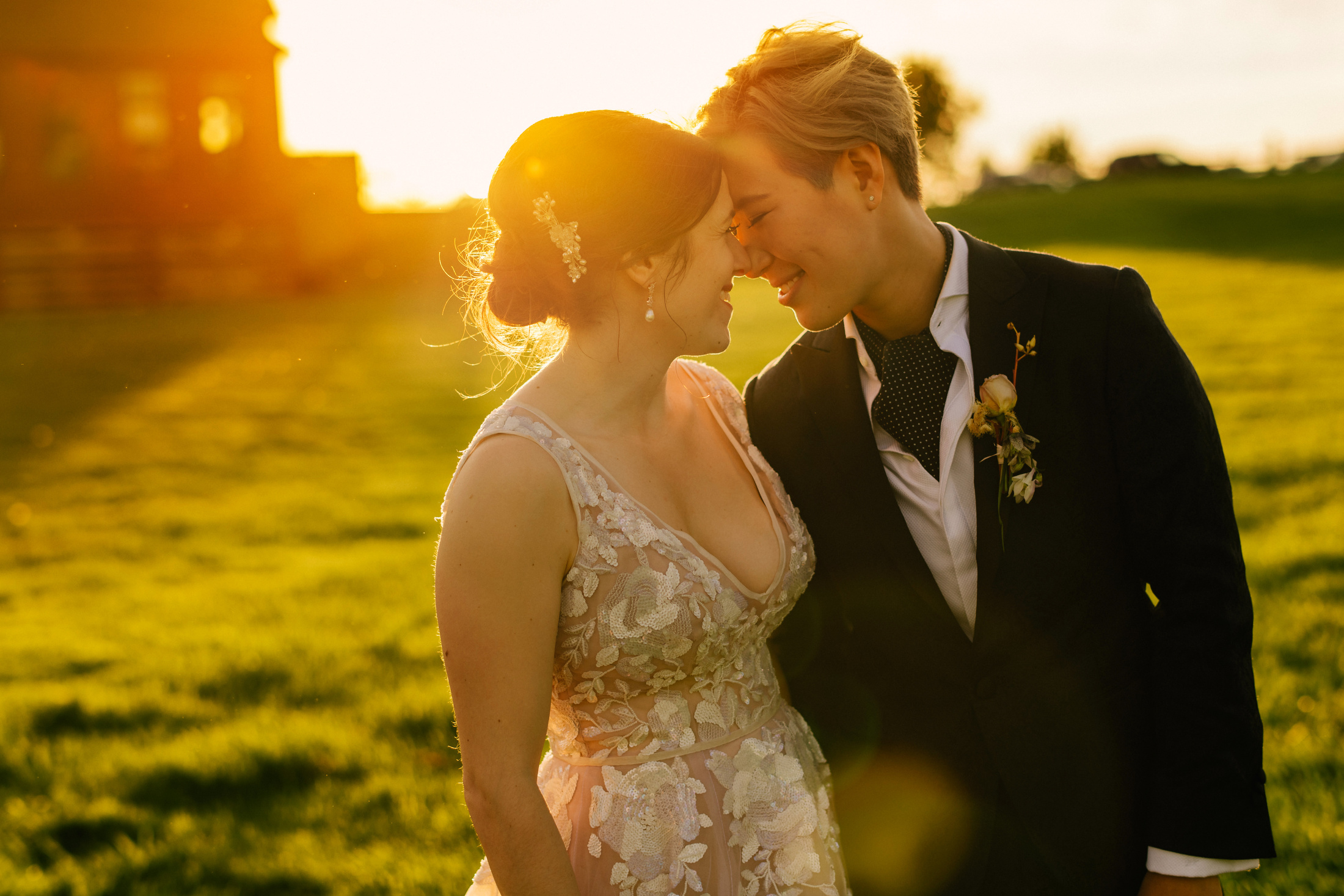 stunning sunset editorial celebrity portraits for weddings in new england