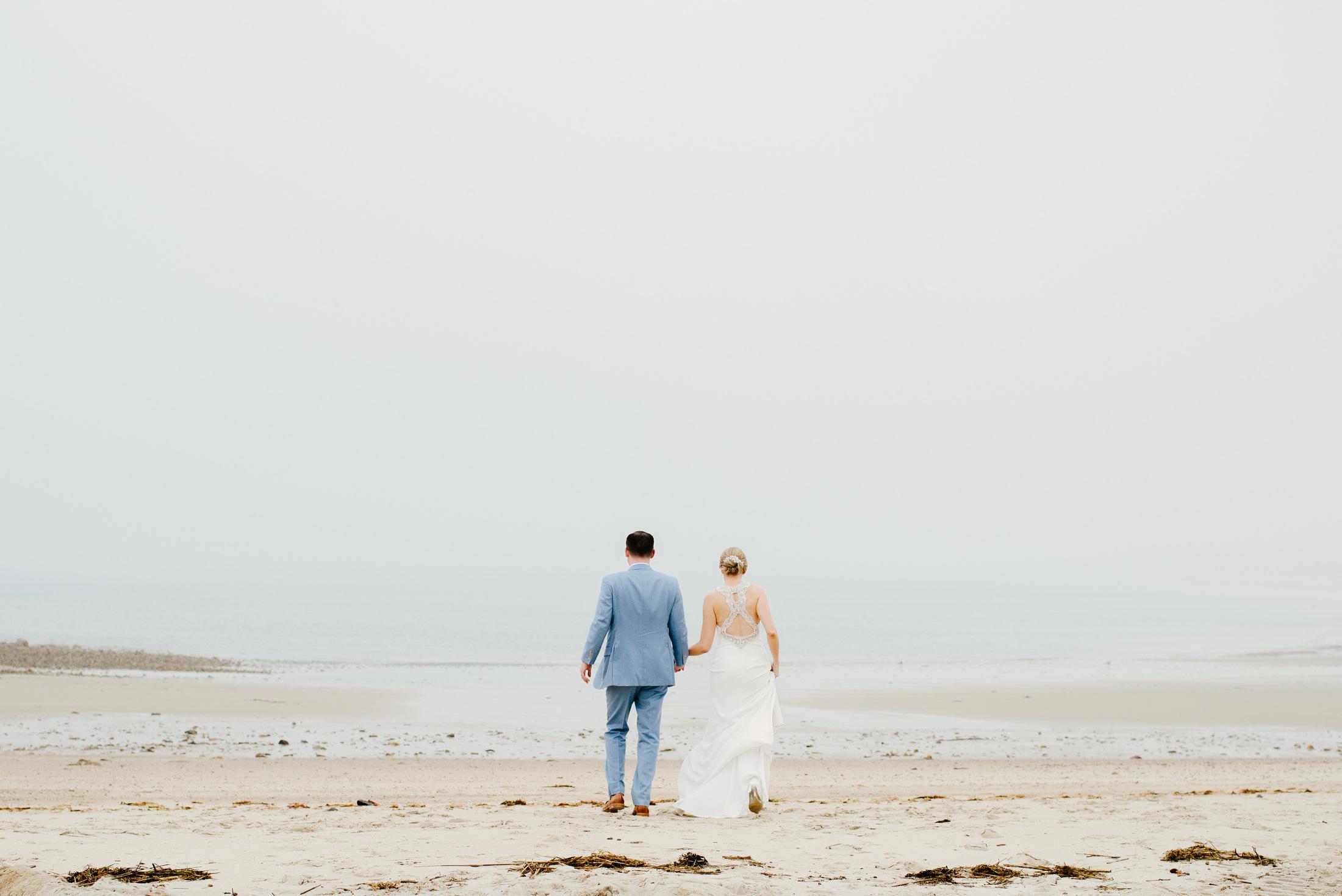 moody dennis beach wedding photos in cape cod