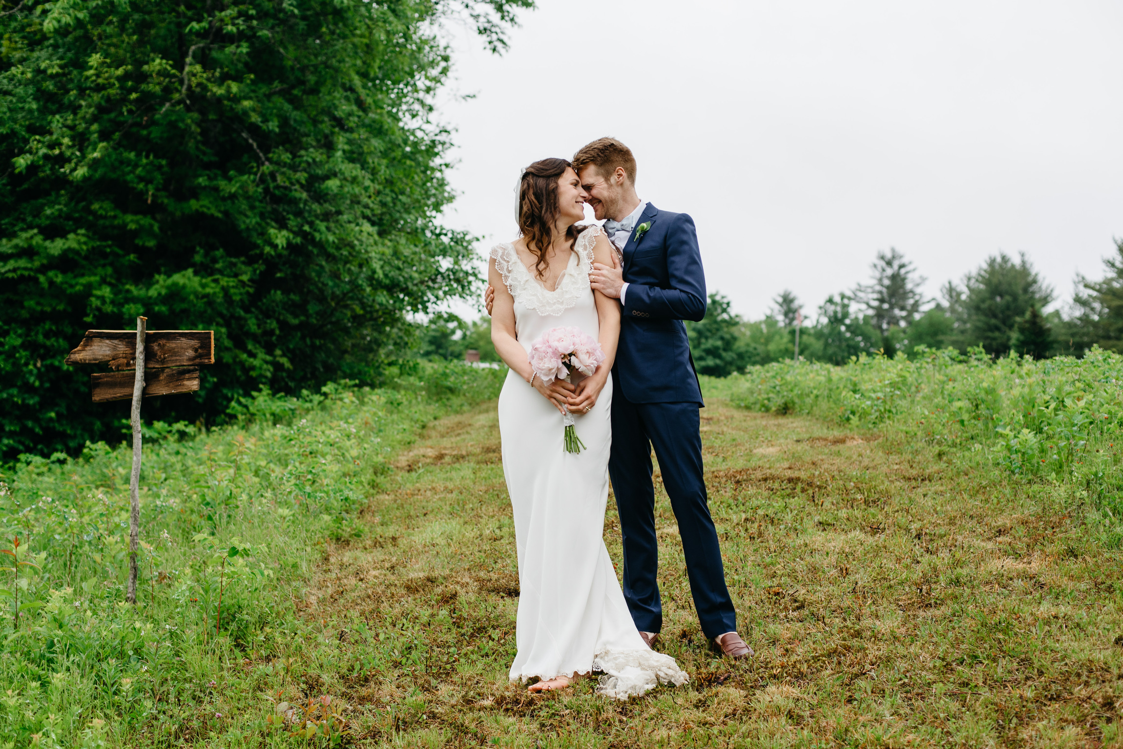 warby parker wedding bride from brooklyn in vermont