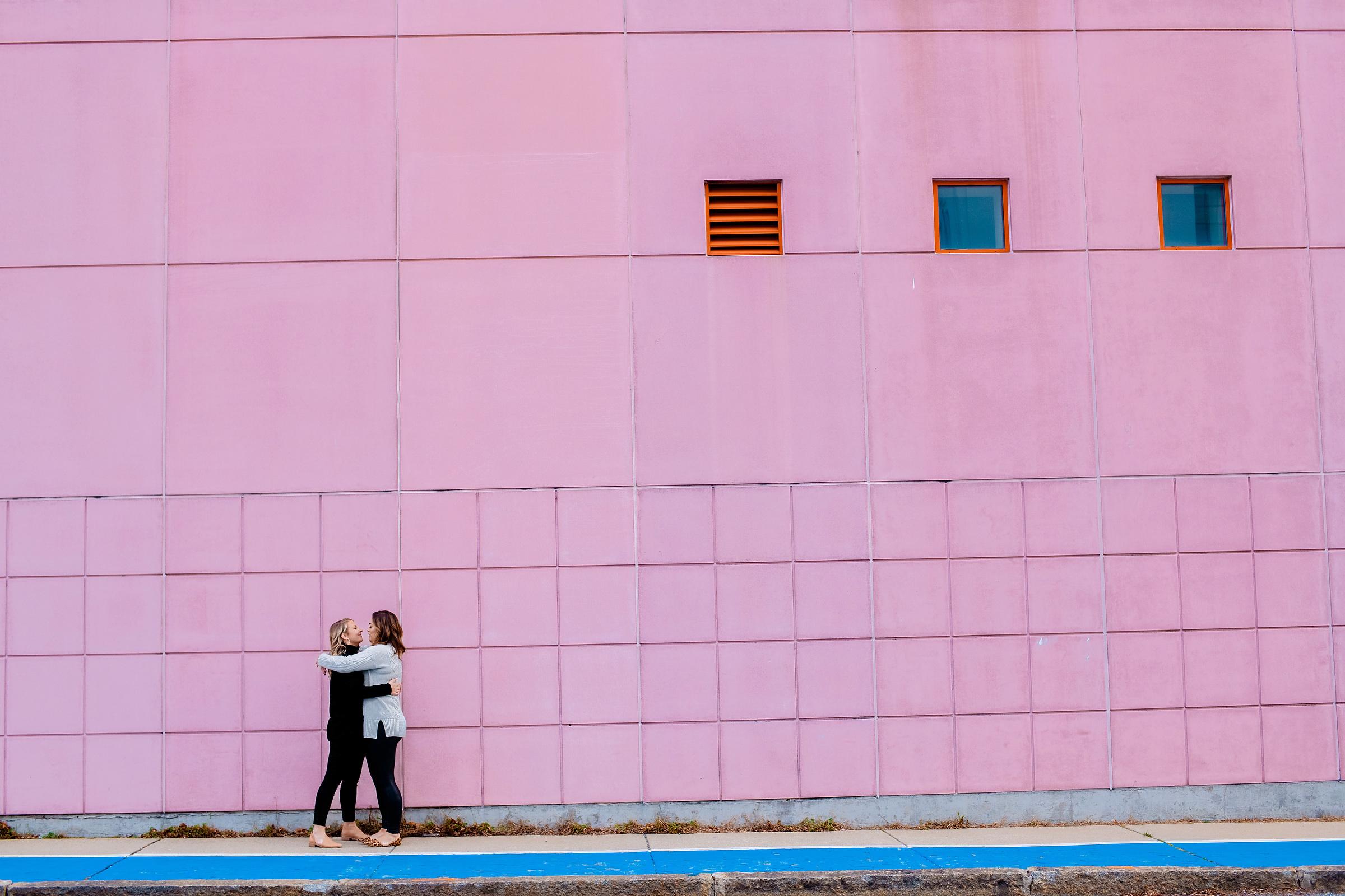 fun lifestyle same sex engagement photos in boston