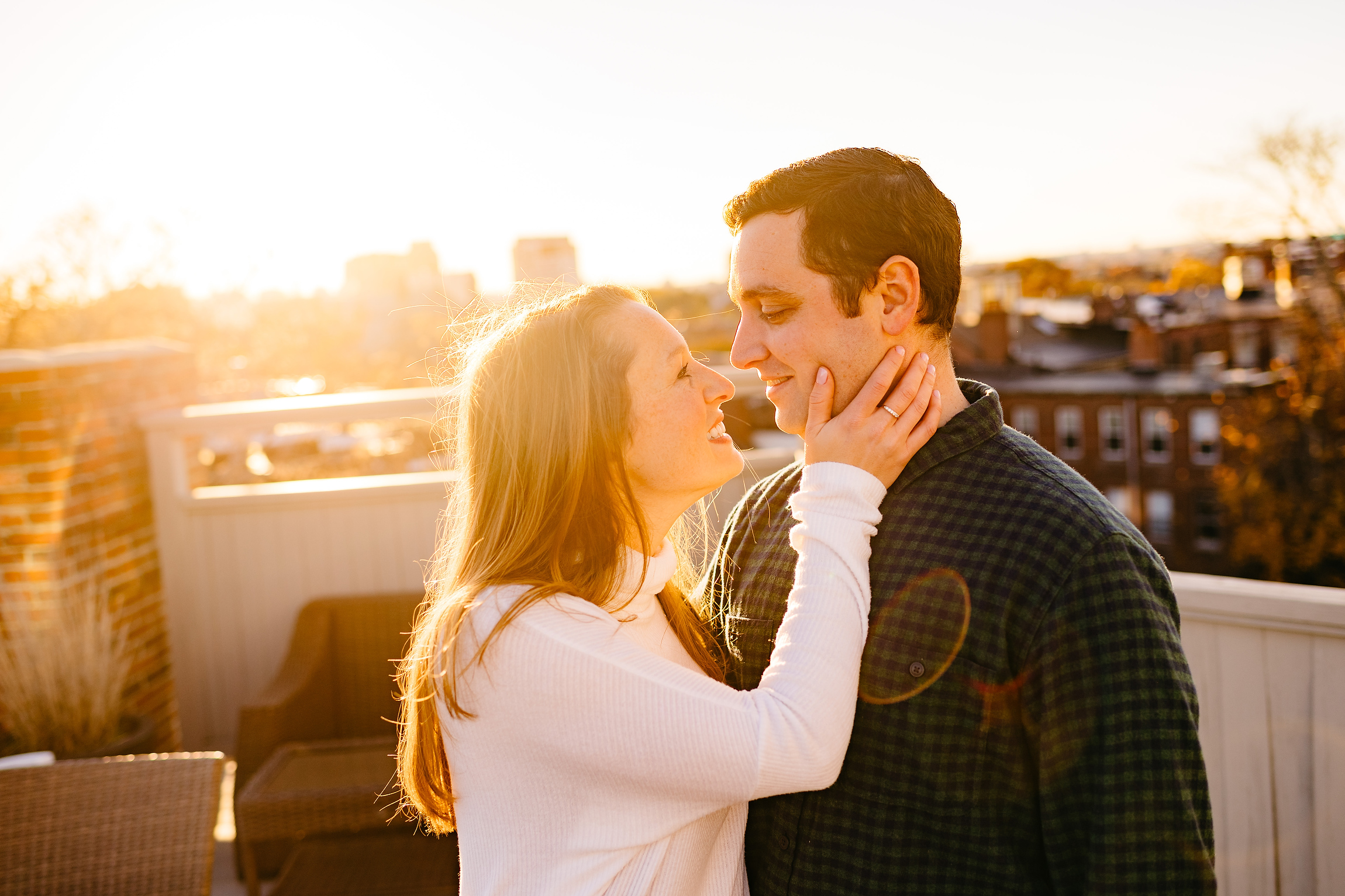 roof top southie boston engagement photos, downtown boston