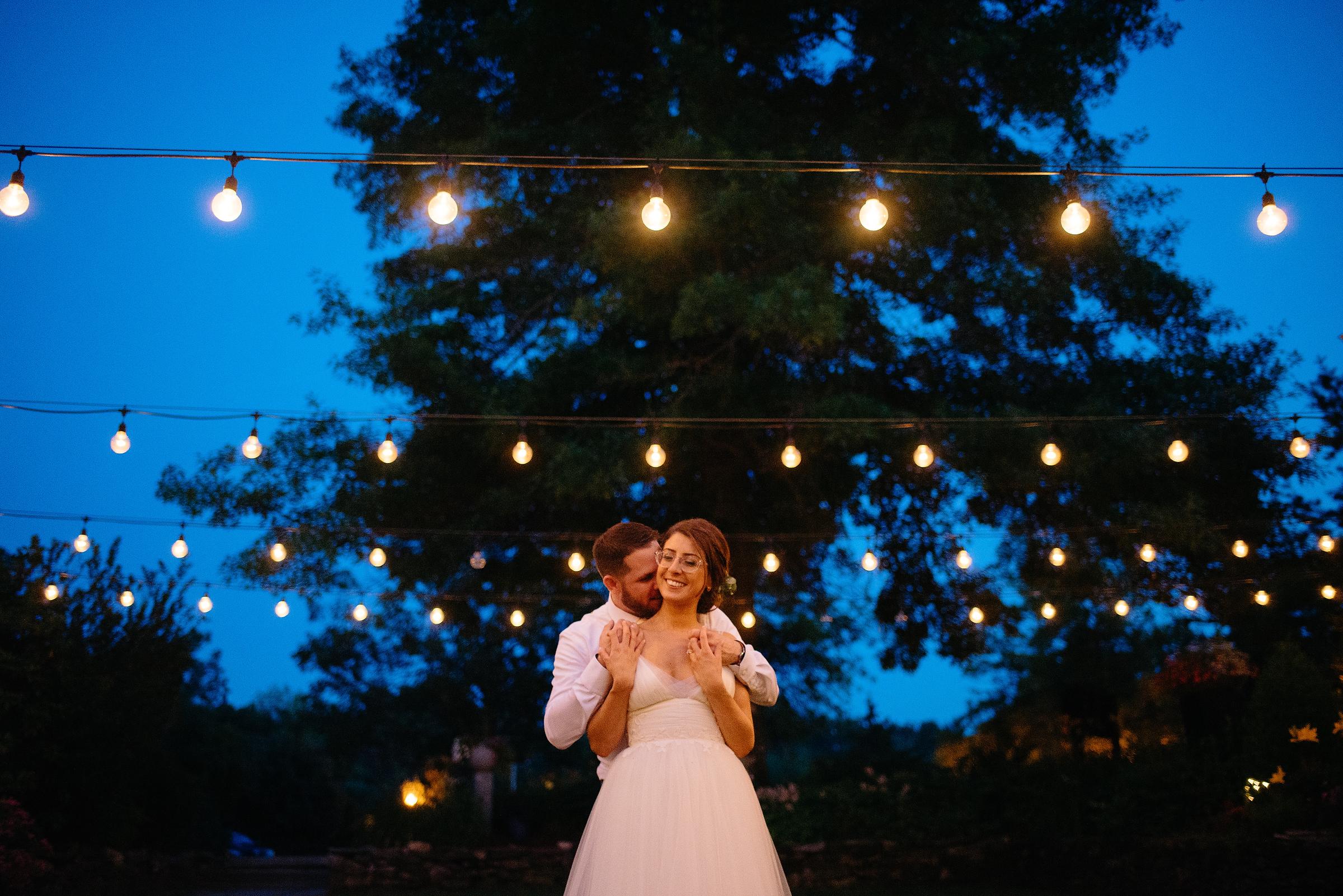 night wedding photos at bedford village inn