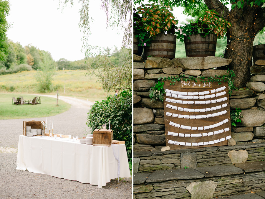 Montague Retreat Center Wedding outdoor details