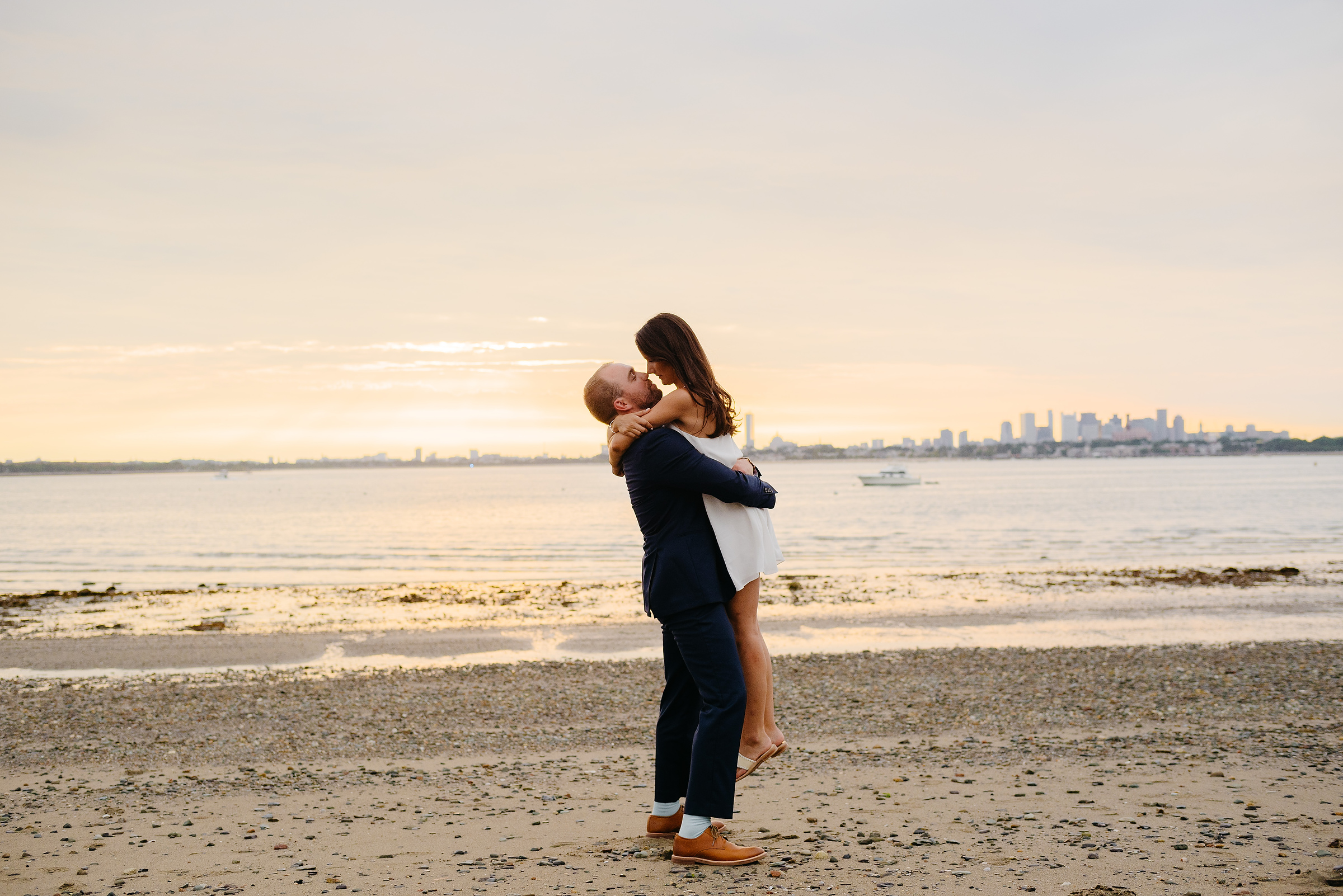 sunset portraits at thompson island- wedding inspiration