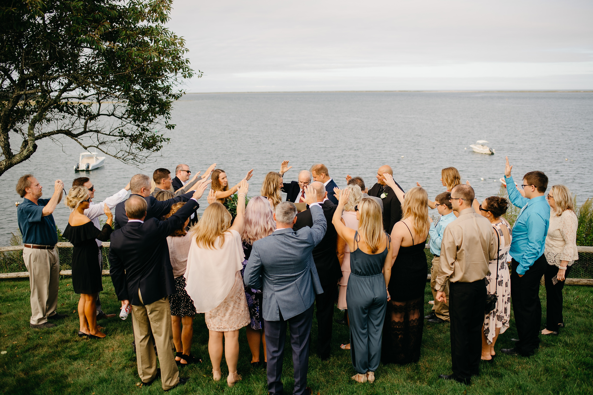 intimate private wedding in cape cod