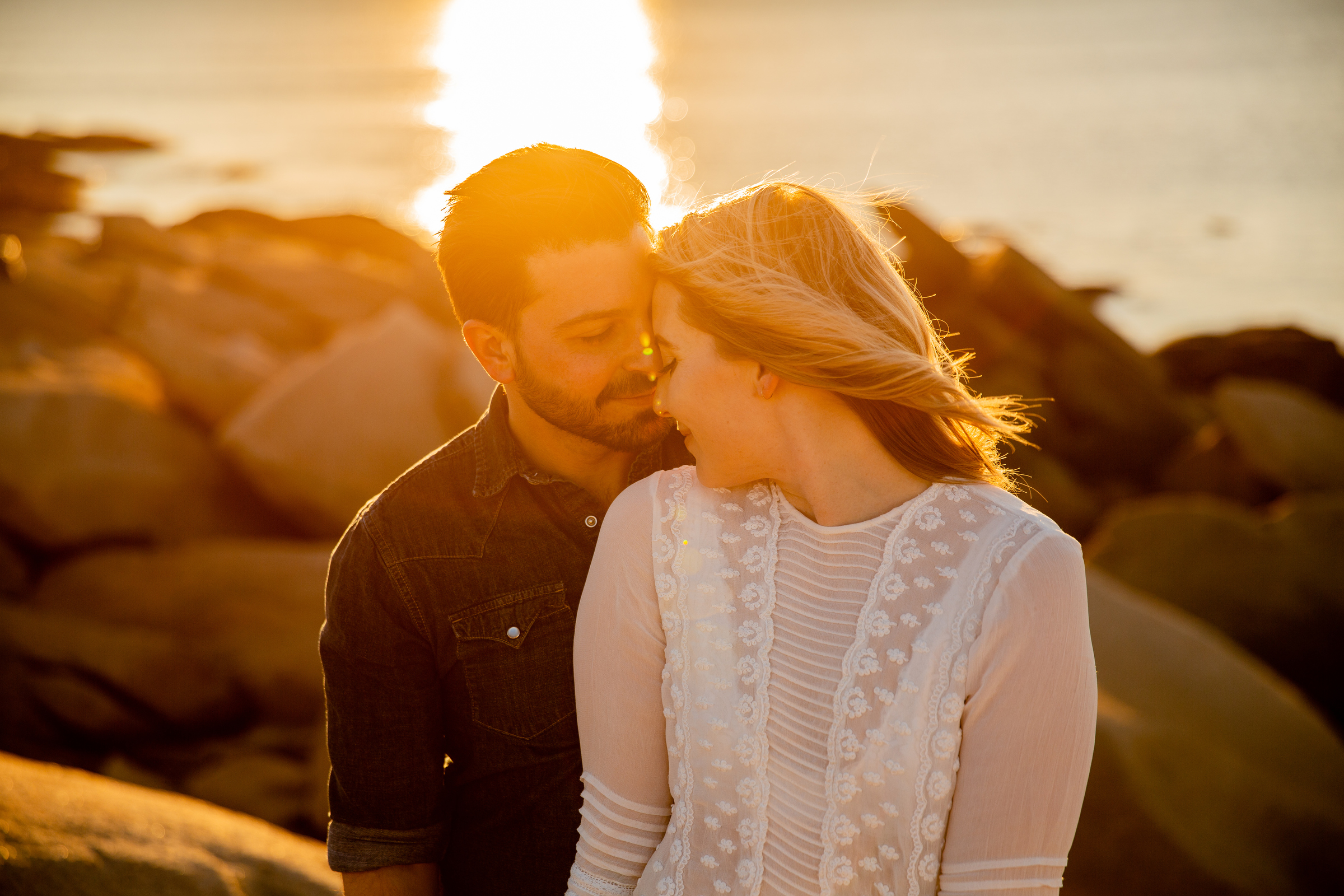 provincetown sunset beach elopement