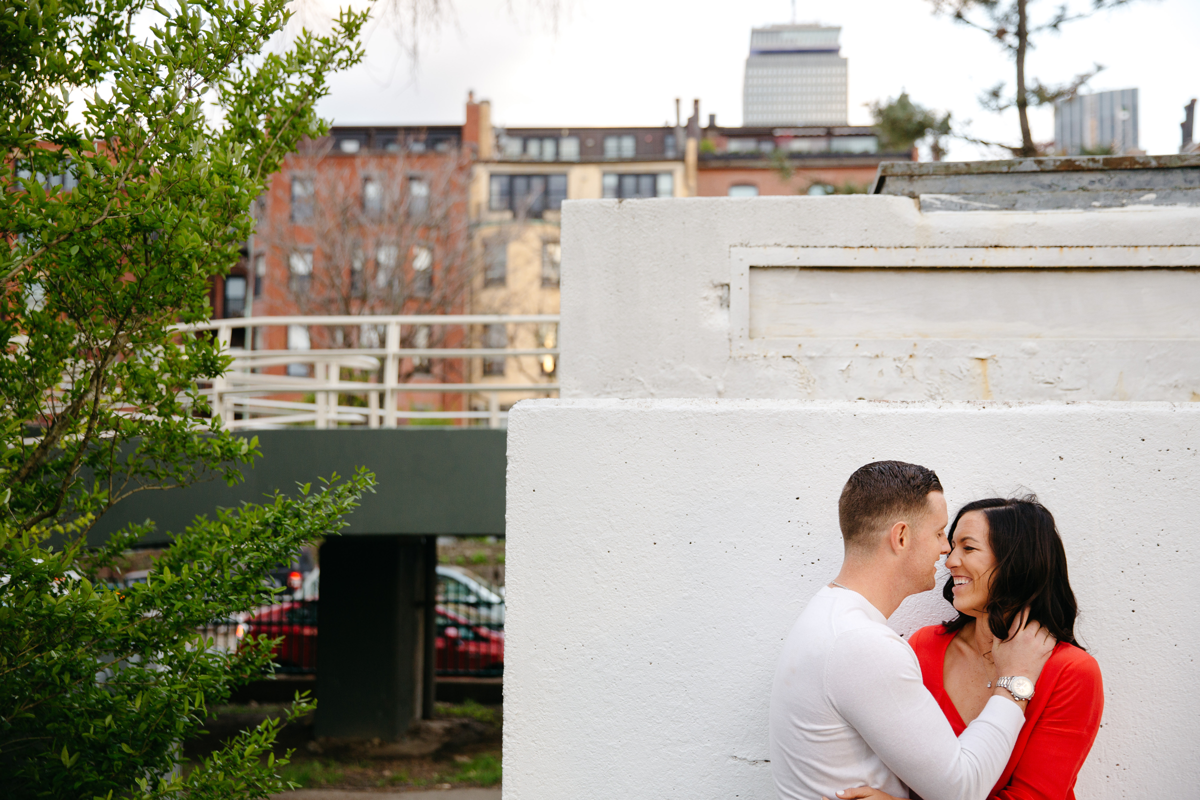 creative boston esplanade engagement photos with beautiful couple