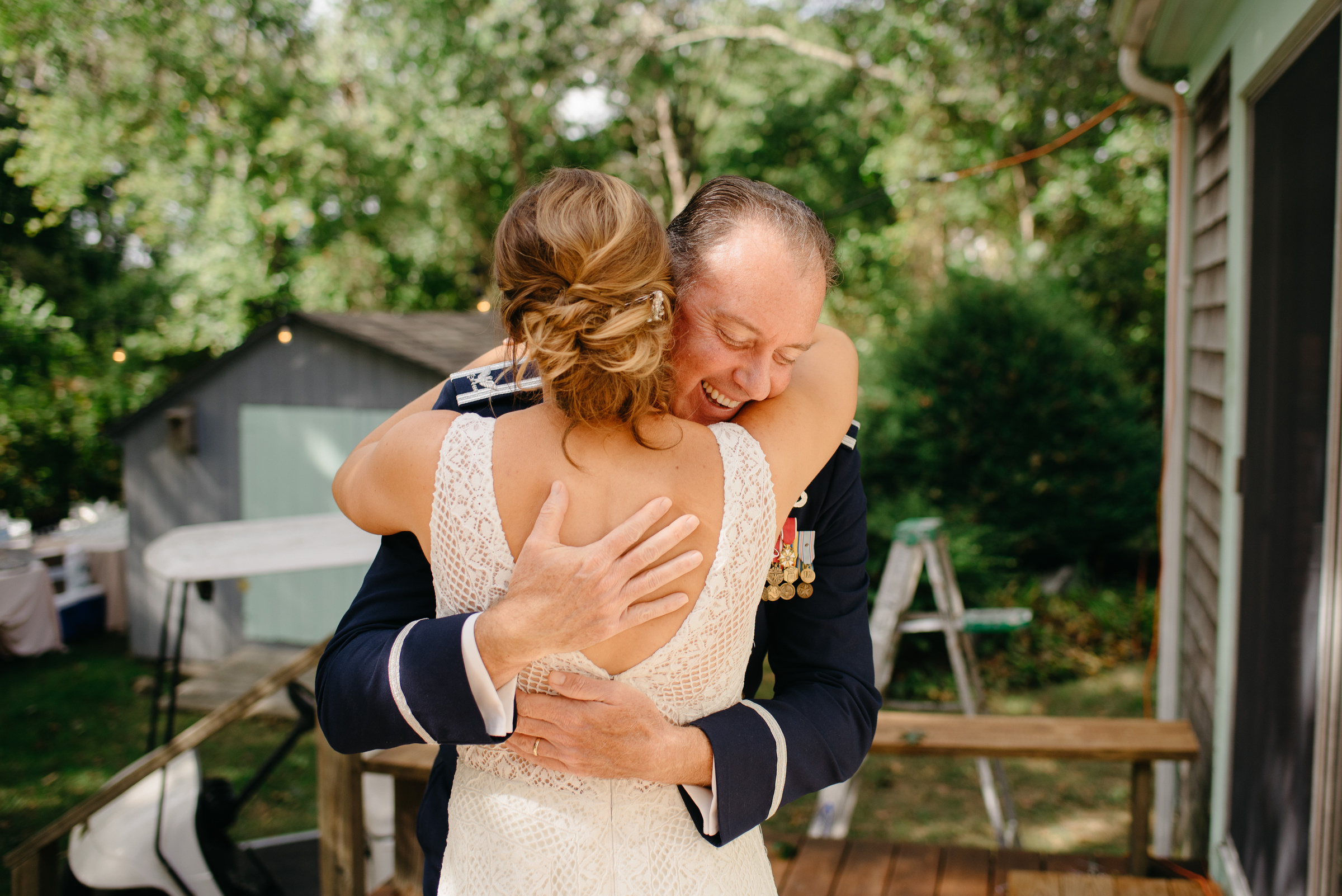 Stunning backyard wedding in cape cod with bohemian relaxed vibe