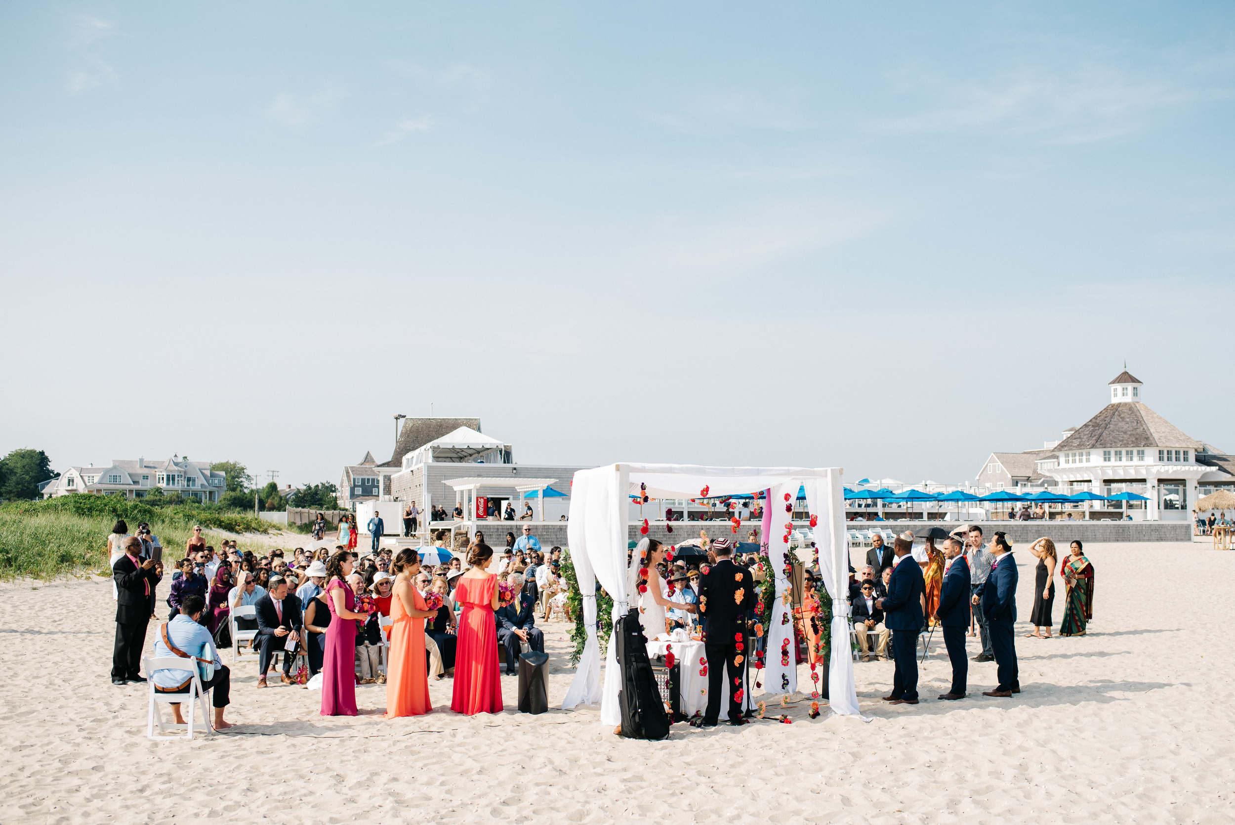 beach wedding at wychmere indian & american weddings in cape cod