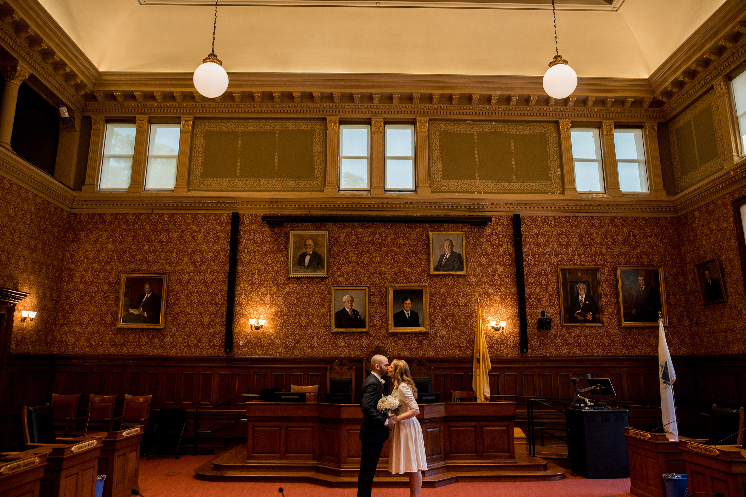 elopement rooms at the cambridge city hall in cambridge, ma