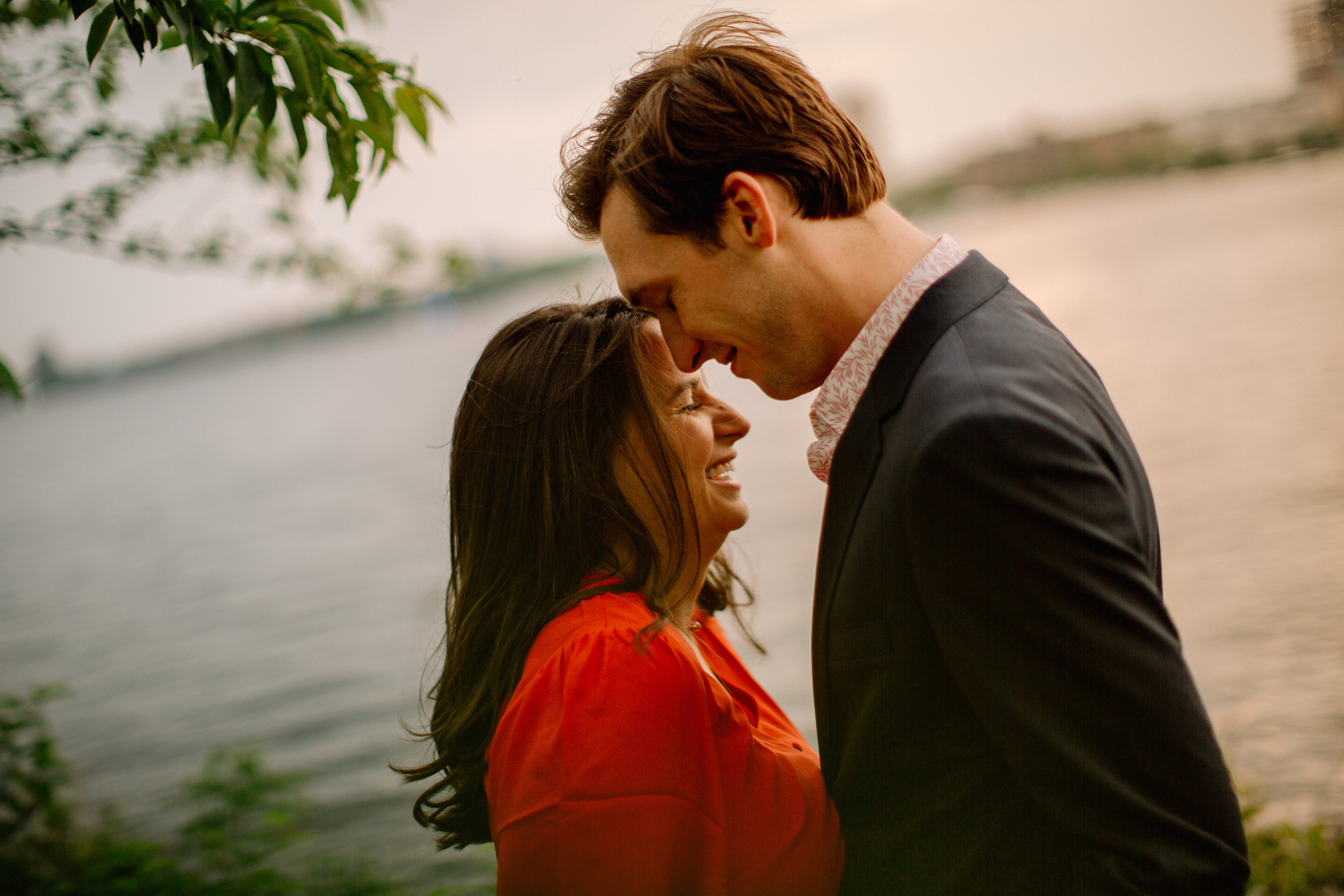 lifestyle romantic and fun engagement photos in boston