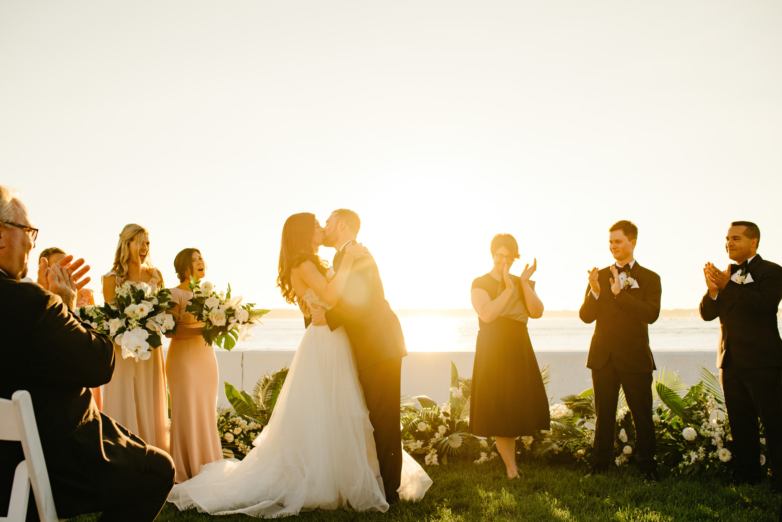 golden hour sunset ceremony in newport ri, how to plan the right ceremony times