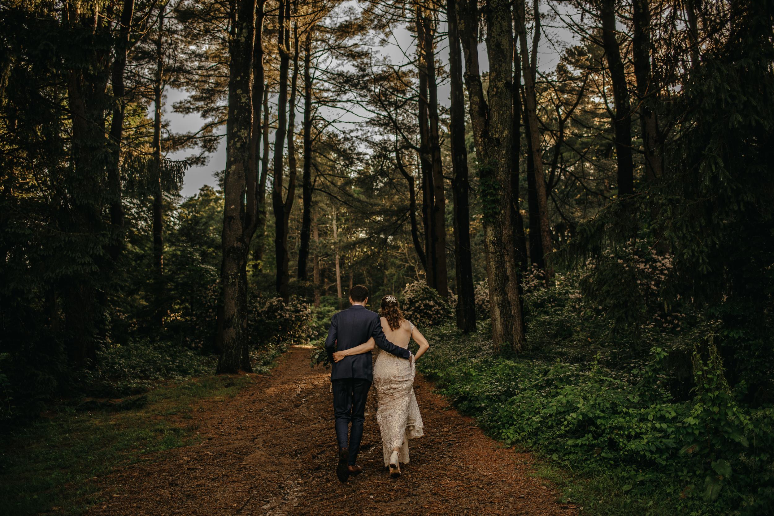 dark and moody creative wedding photos at a farm in new england
