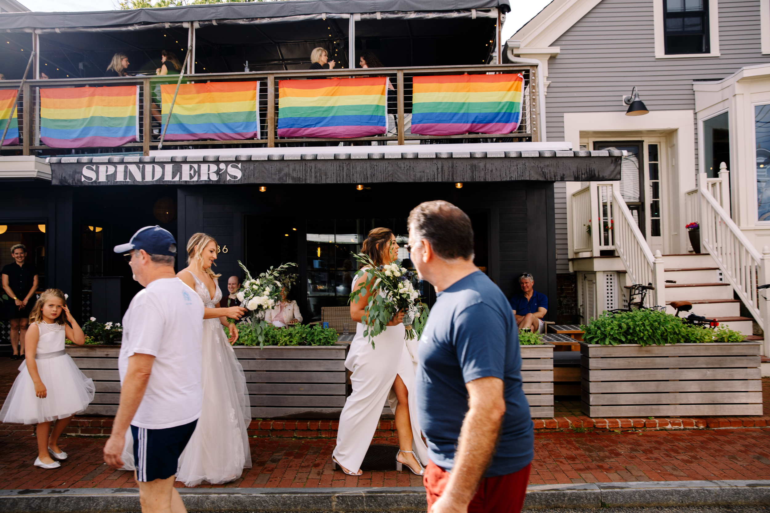 wedding at spindlers in provincetown