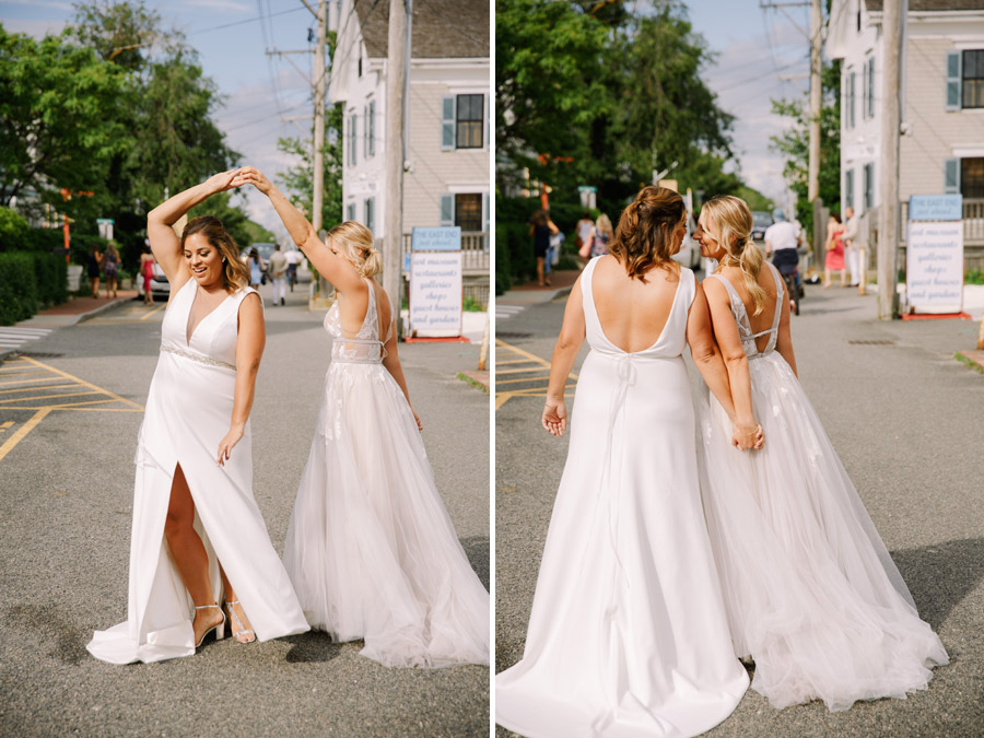 downtown providence top wedding planners brides walking downtown