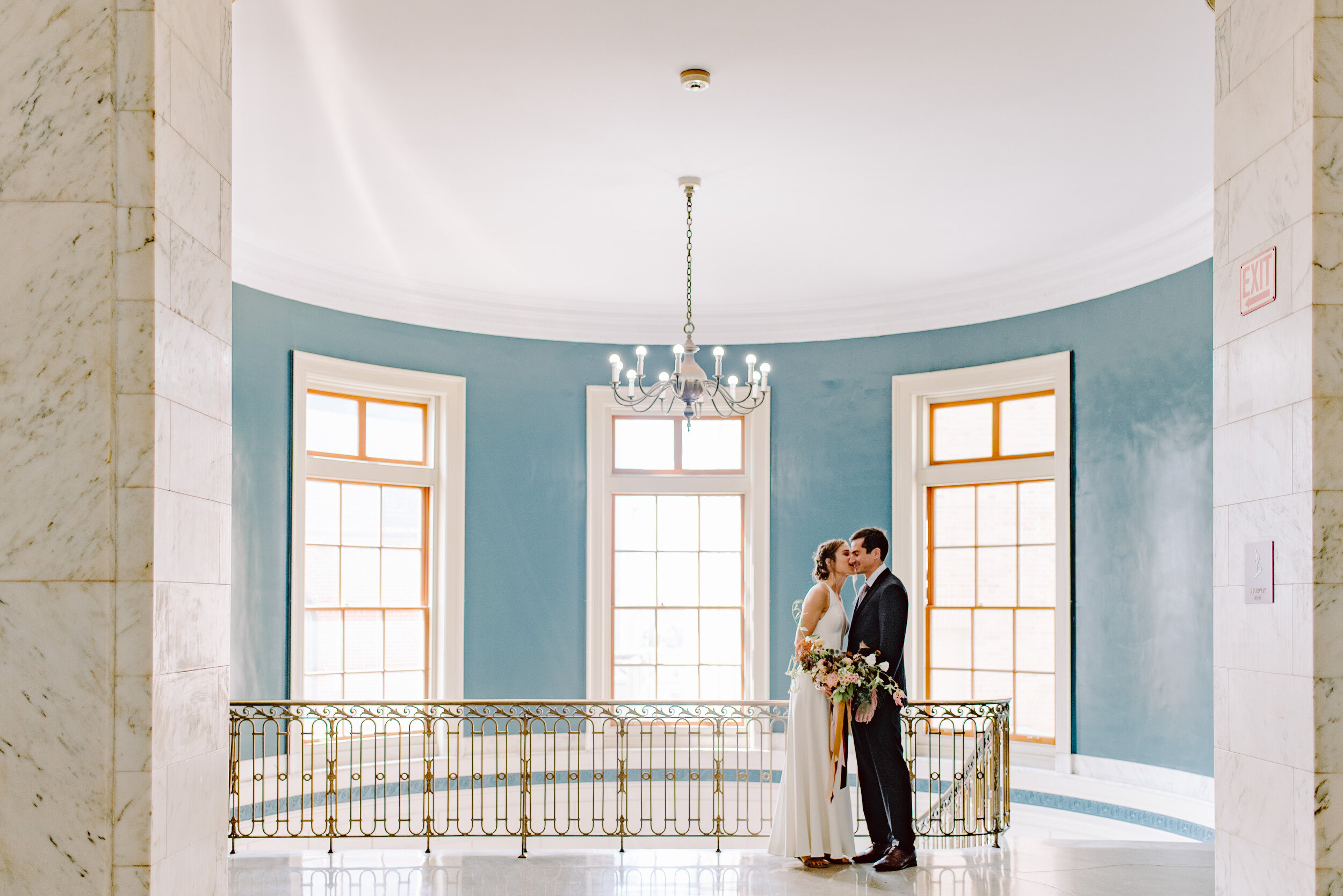 classy portland maine wedding venue photo of bride and groom inside