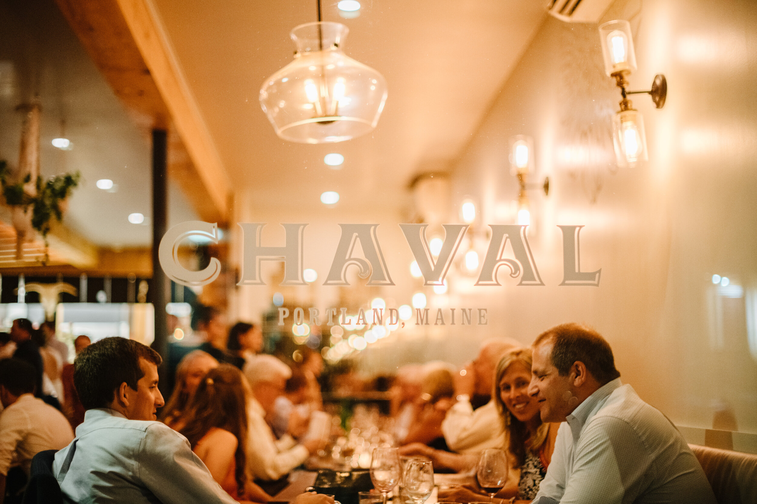 chaval restaurant at night for weddings and events downtown wedding venues and best portland photographers
