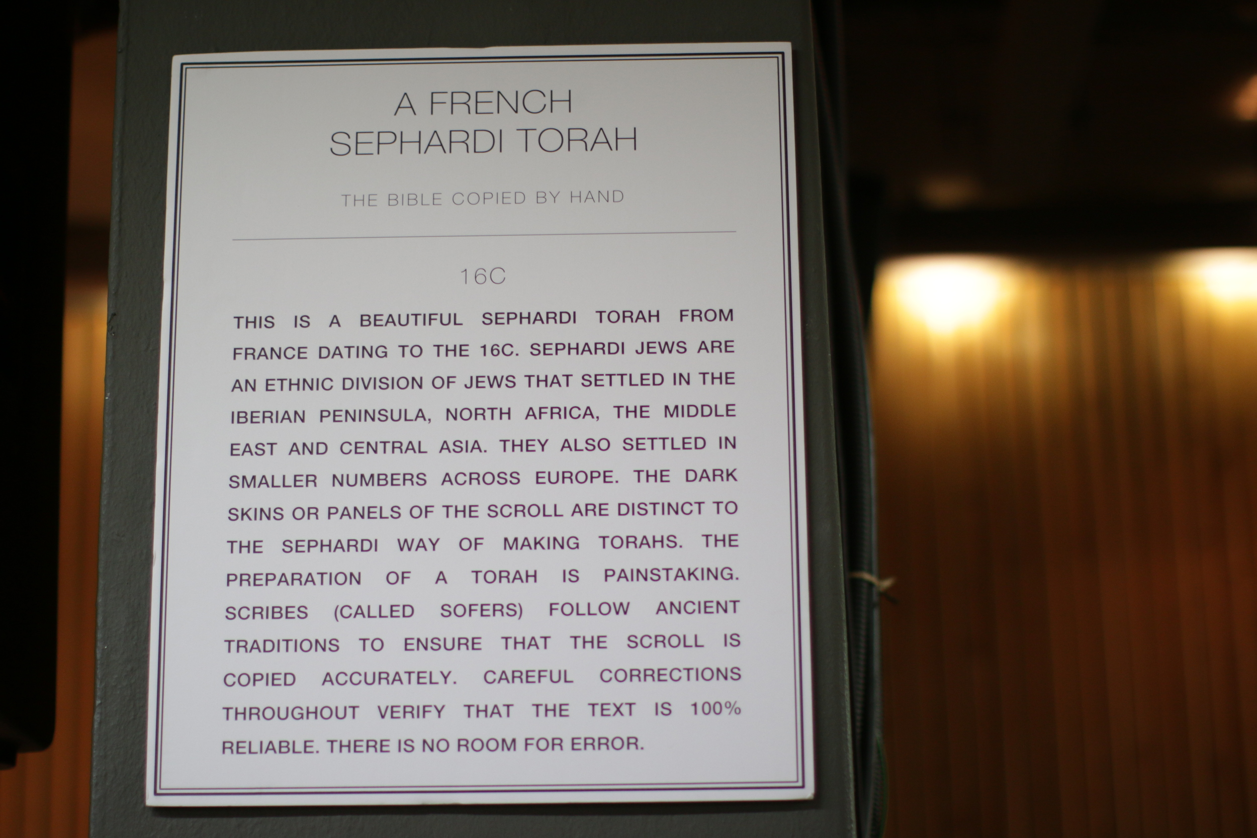 The rich history behind the French Sephardi Torah