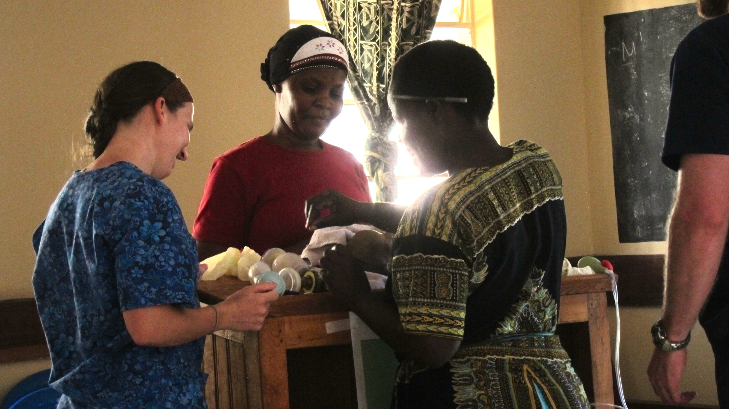 One of my students, Trista, teaching Helping Babies Breathe curriculum to Shirati hospital nurse midwives