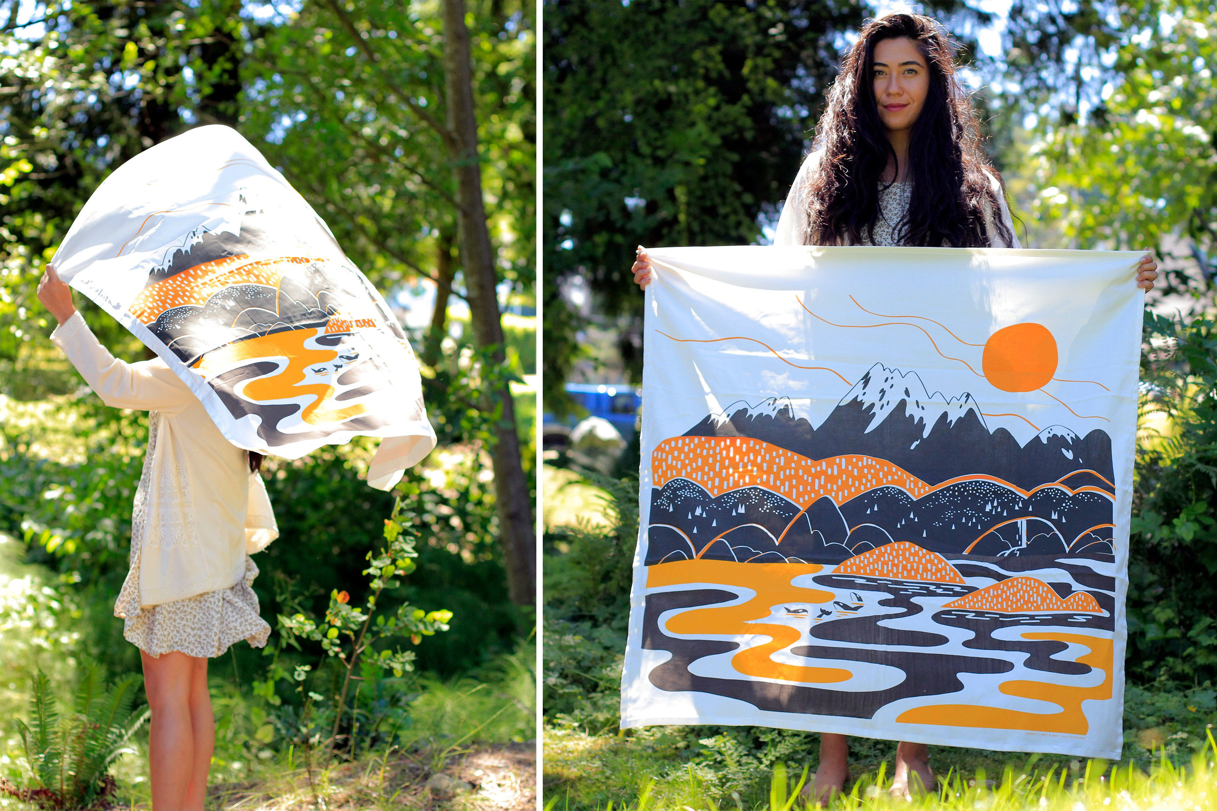 Custom built screens were made to produce these large tapestries.