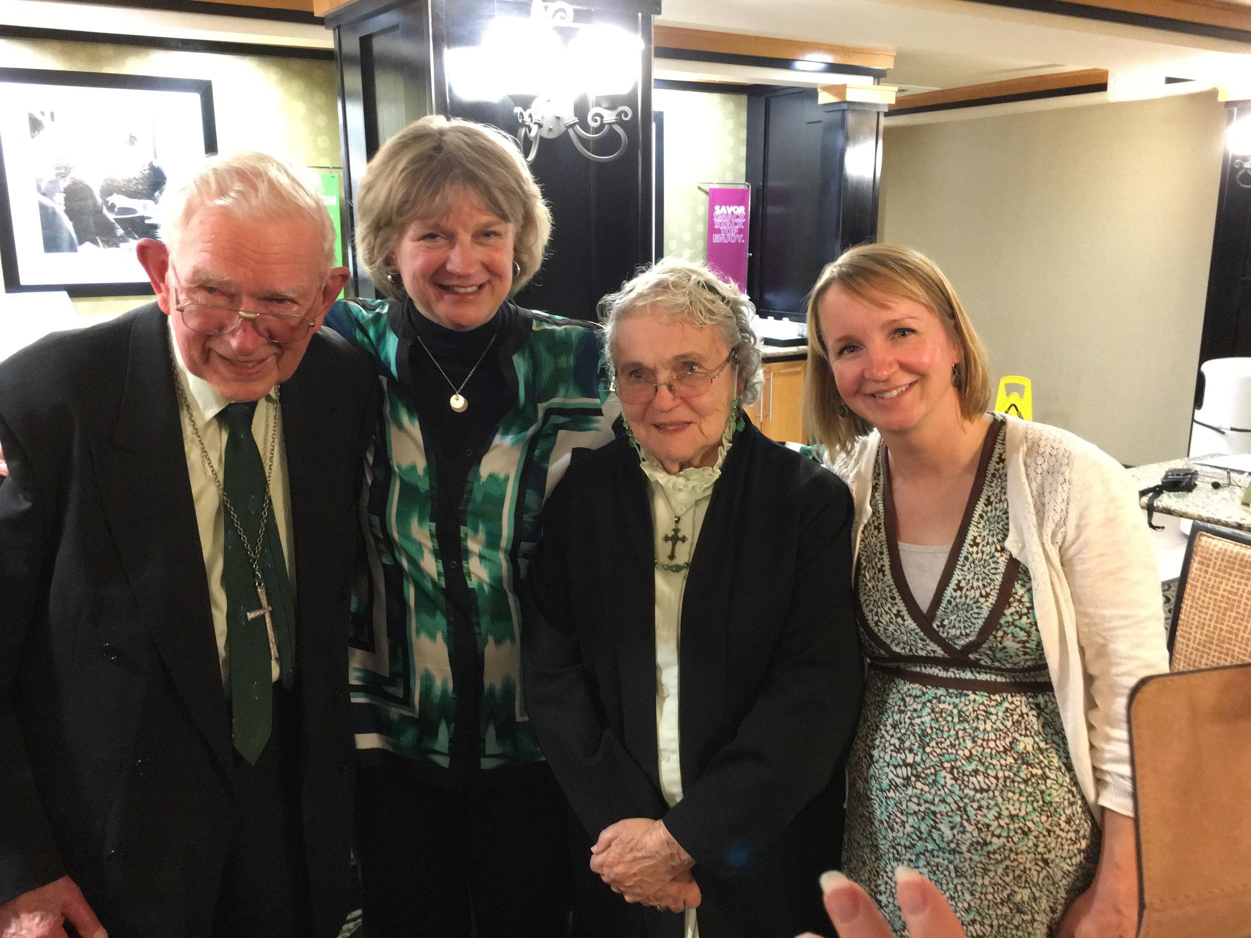 Graetzes with Bishop Ann Svennungsen and Pastor Stephanie Coltvet Erdmann