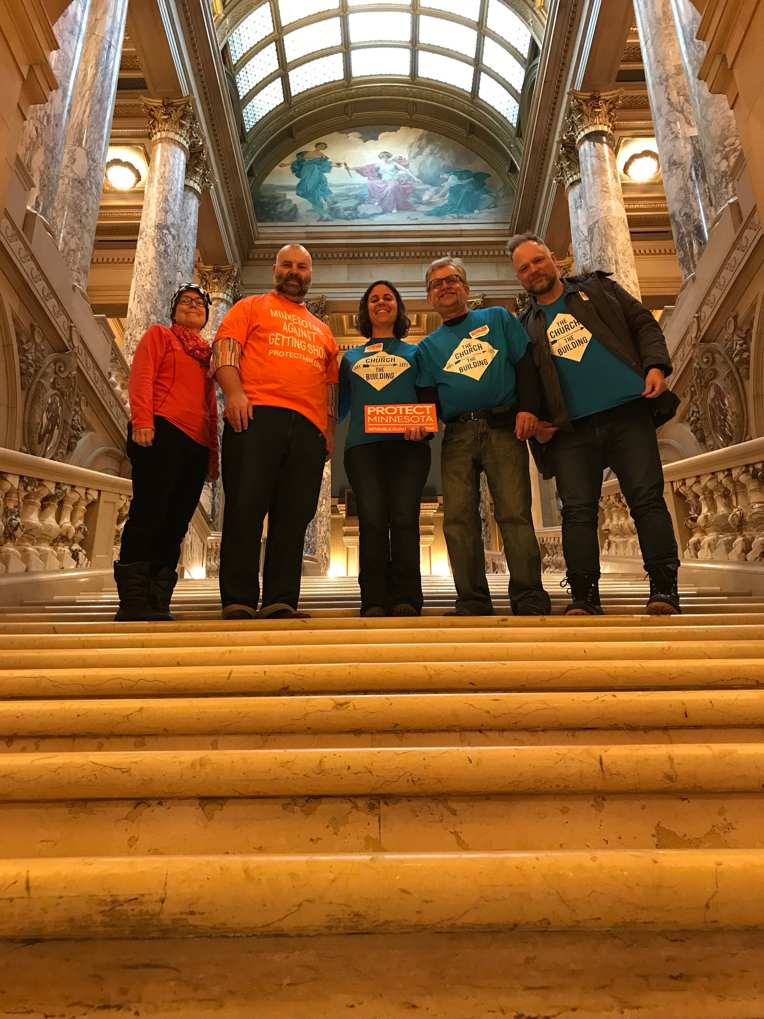Advocating at the Capitol for gun violence prevention with Protect Minnesota.