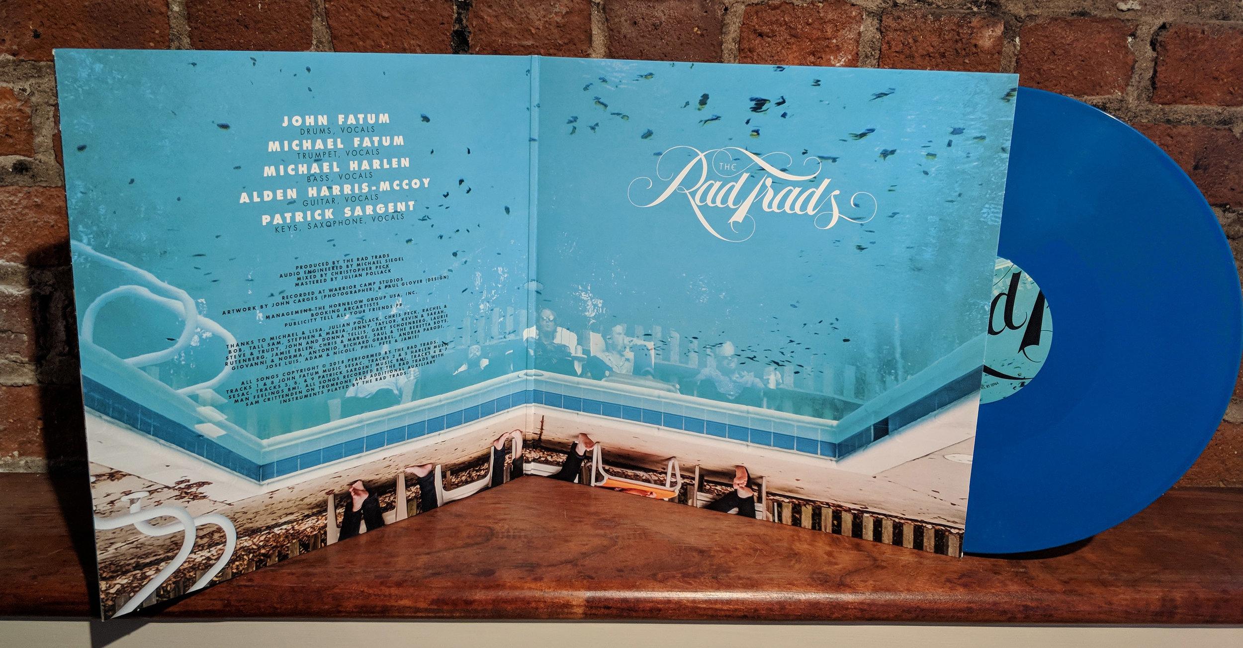 On Tap Vinyl (Limited Edition Aqua) — The Rad Trads