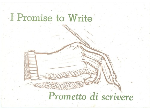 Keep Writing # 19 May 2010 collaboration with John Fitzgerald who printed this image and text from an Italian phrase I supplied as I prepared for a 2 month trip to Italy.