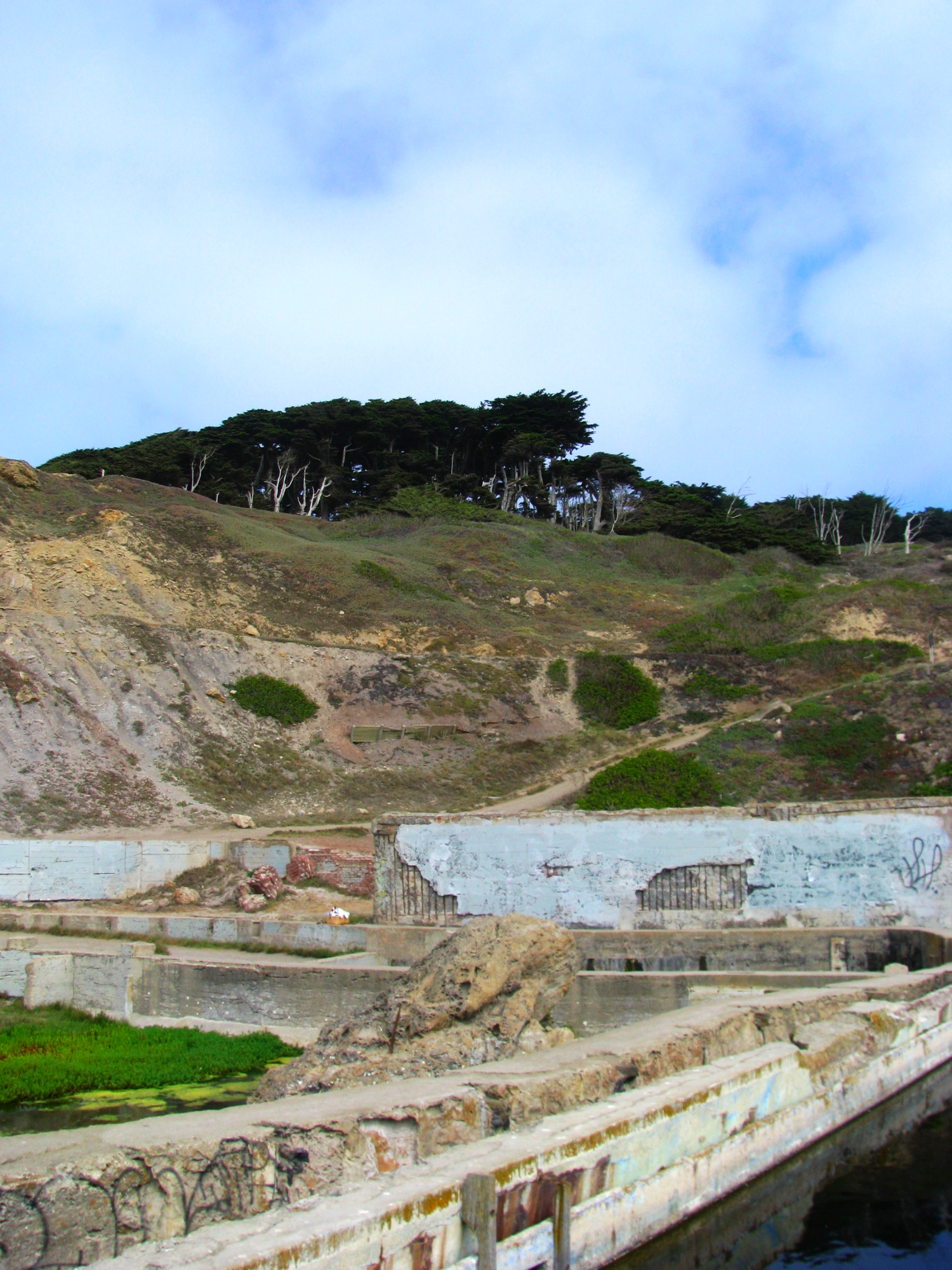 sutro baths from the bottom