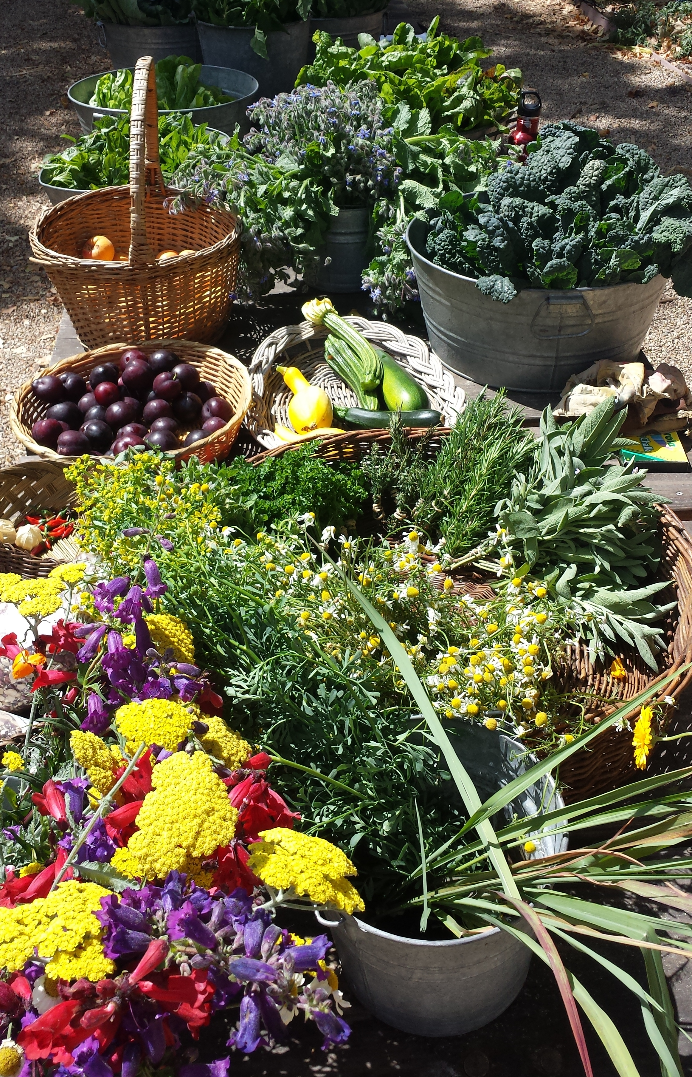 Farmstand offerings a few weeks ago.
