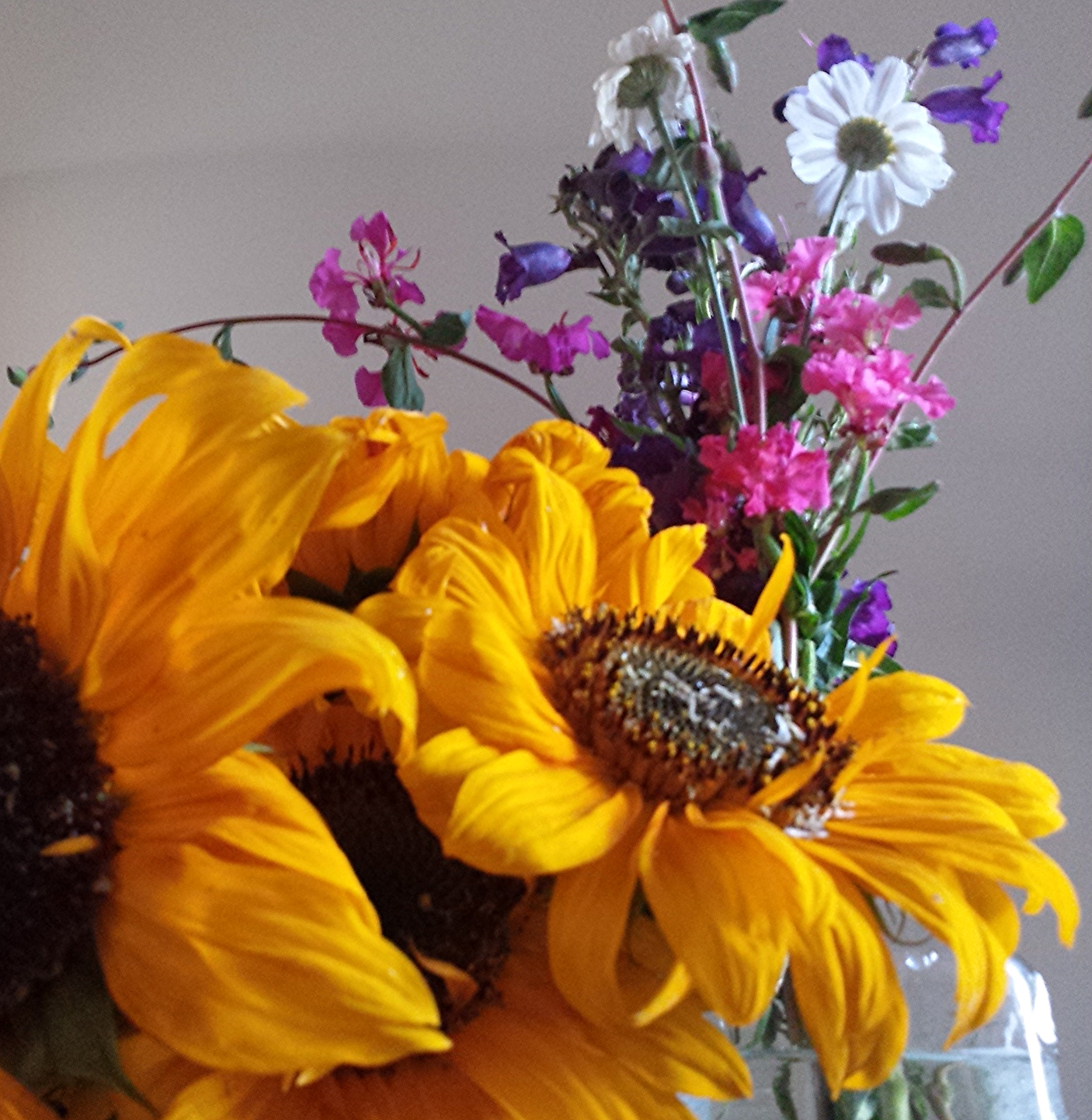 Farmstand flowers at home.
