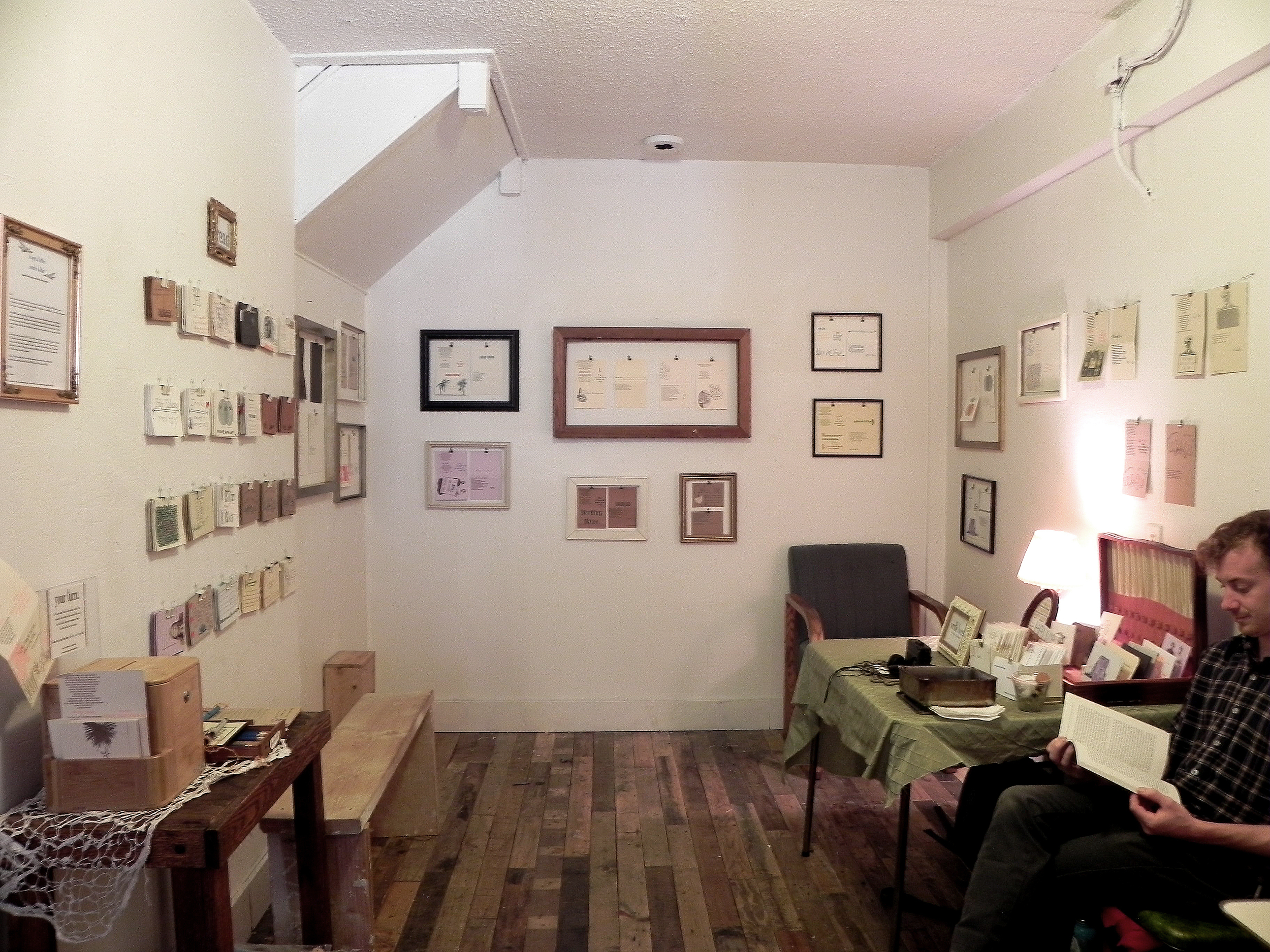 The back room gallery at EM Wolfman's