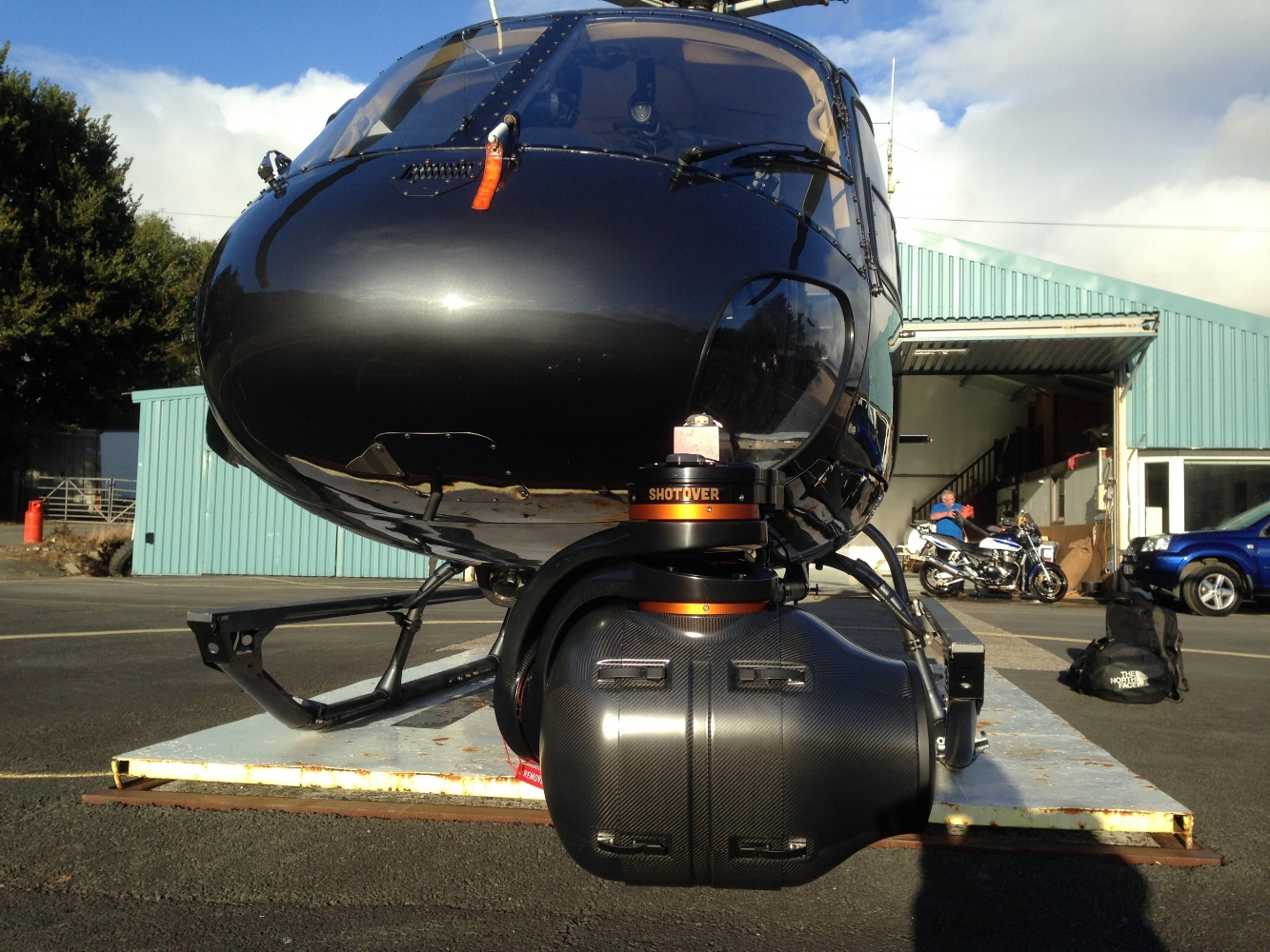 Shotover F1 on 350B2 Helicopter