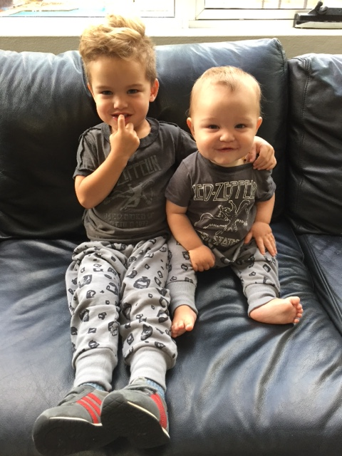 Awwwww the heart melters Hudson and Archer