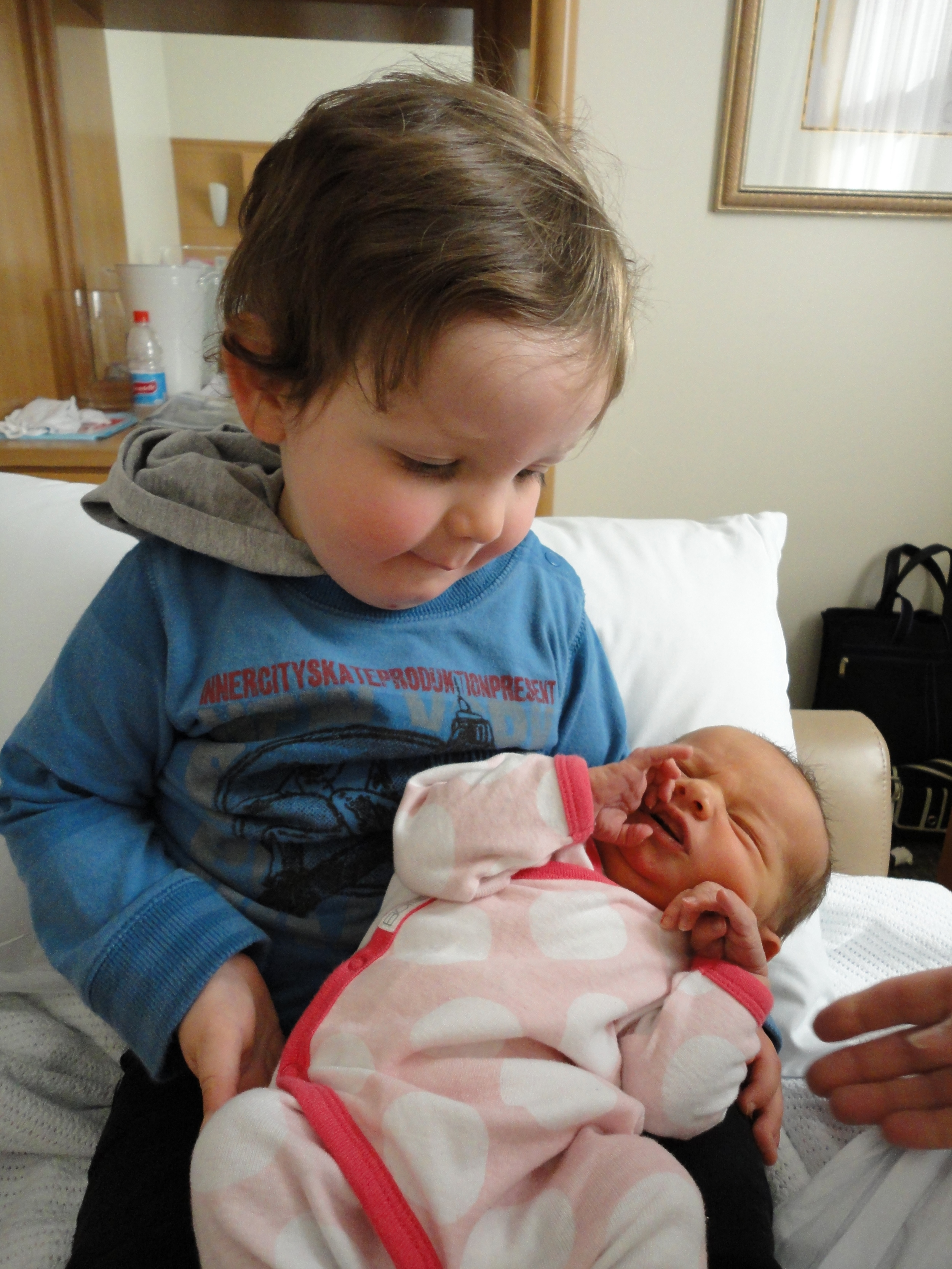 Jack meeting his little sister