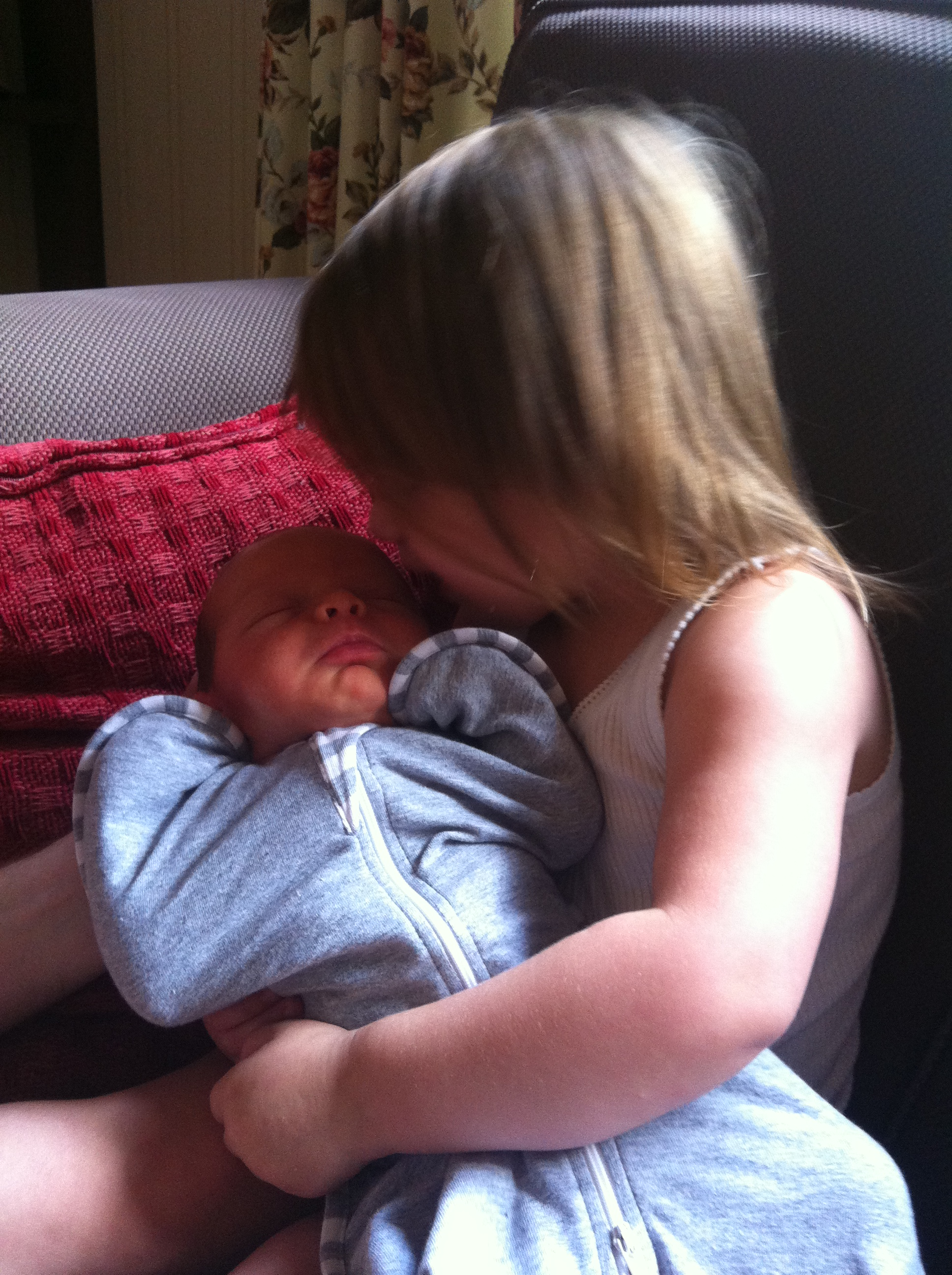 Eva's First cuddle with Franklin as she whispered to him that she loves him. Best second mum he could ask for.