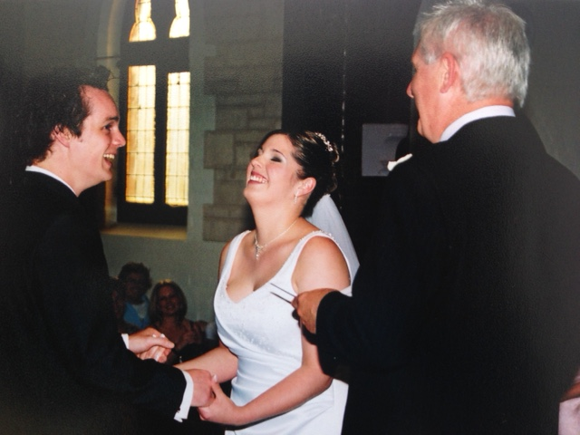 My Dad marrying us with a couple of added personal jokes