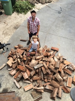 A delivery of native hardwood to our home in 2015