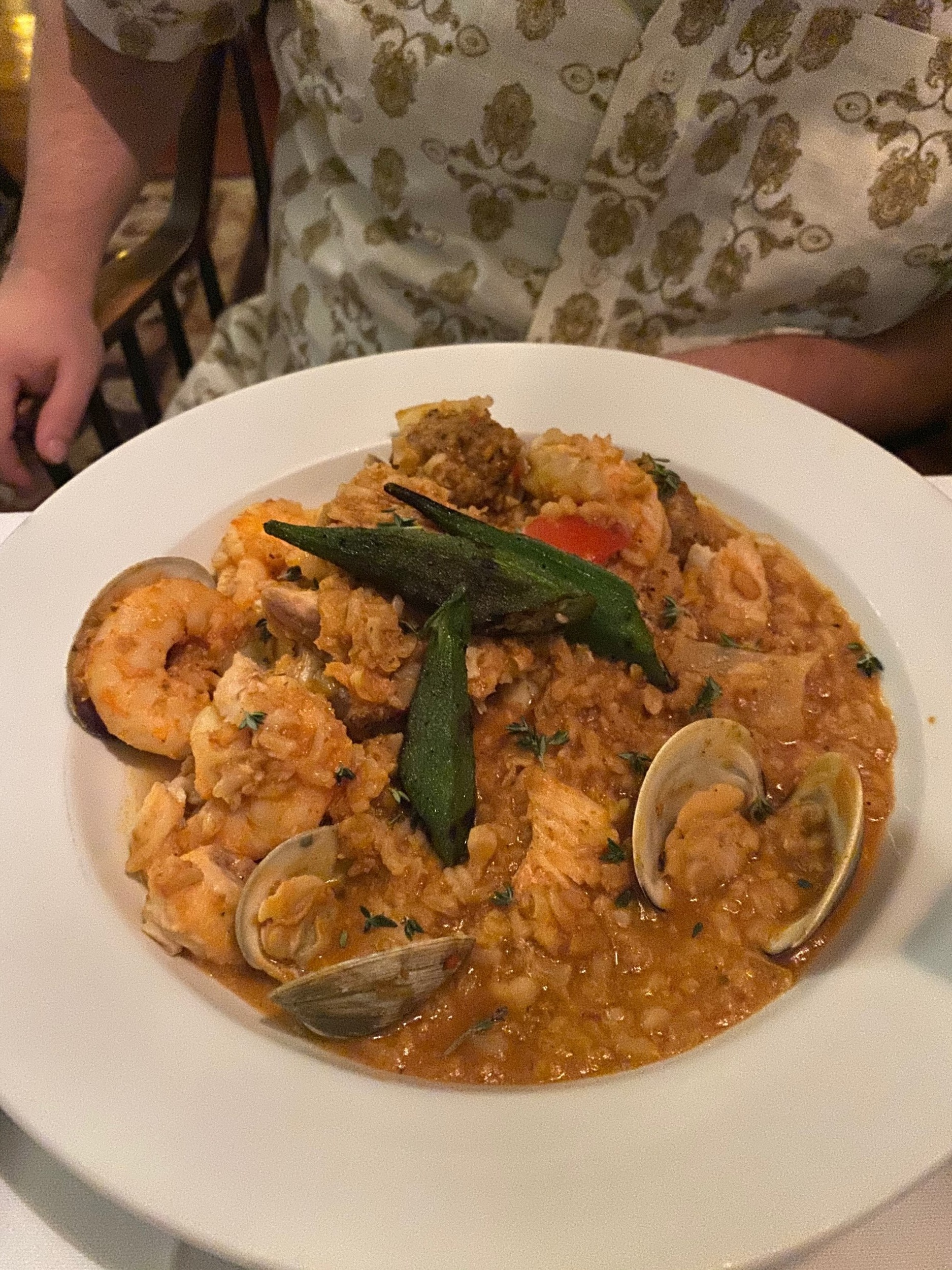 Here is Martin's Savannah Red Rice with Georgia Prawns, whitefish, clams AND sausage!