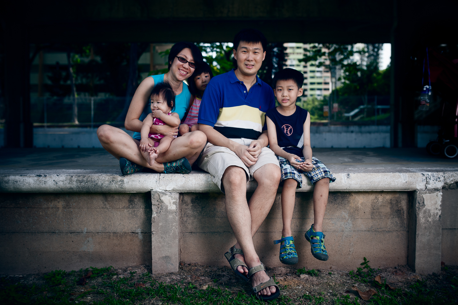 """""""Happiness is about waking up with my loved ones every morning, that is happiness!"""" - Christopher (far right) answering on behalf of the Chor family."""