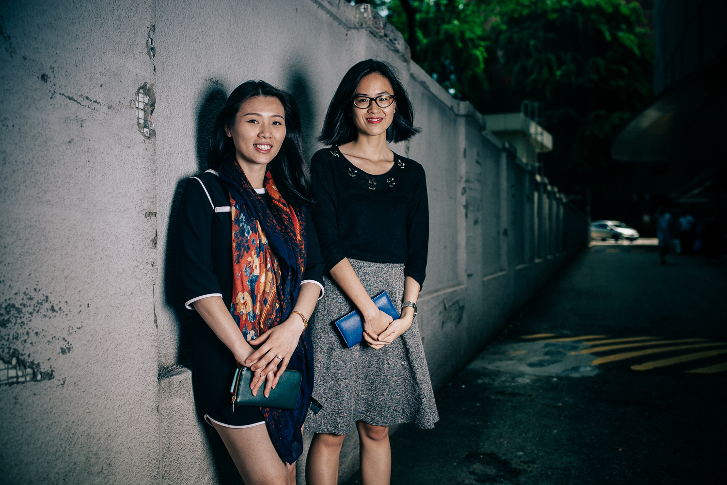 """""""I am most happy when I am at home where I can just enjoy sleeping and eating [laughs].""""  """"And for myself, happiness is when I am traveling with my friends. Just partying with them and being carefree."""" - Joyce & Seow Wei"""