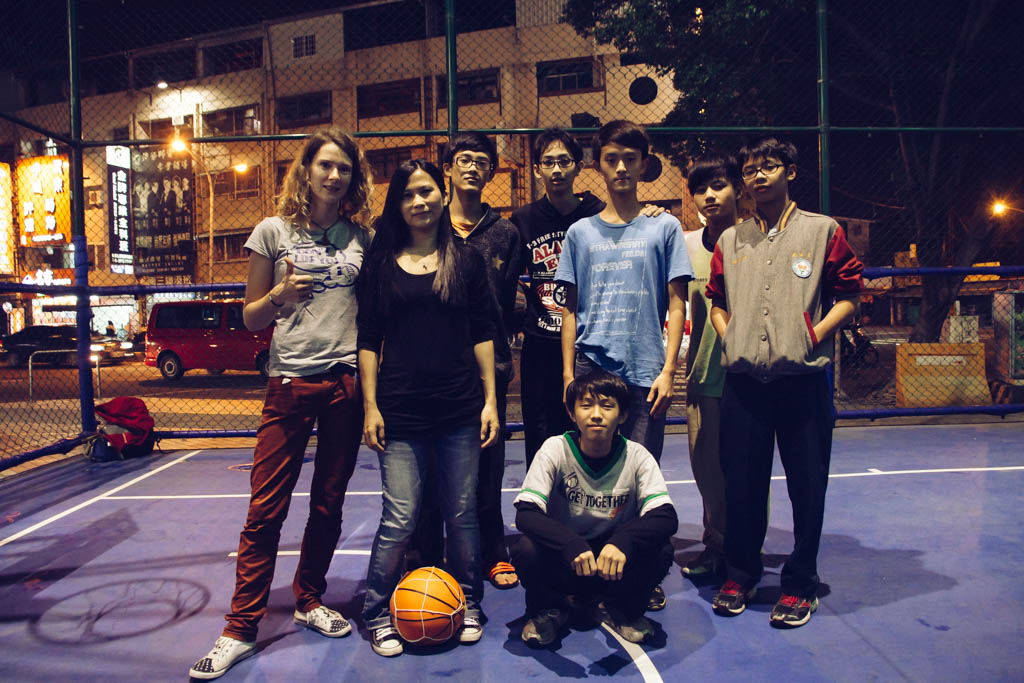 Two hours earlier, I was chased down by an angry taxi driver and then here I was, playing a game of basketball with Claudia, Celine and some other kids that we befriended with.