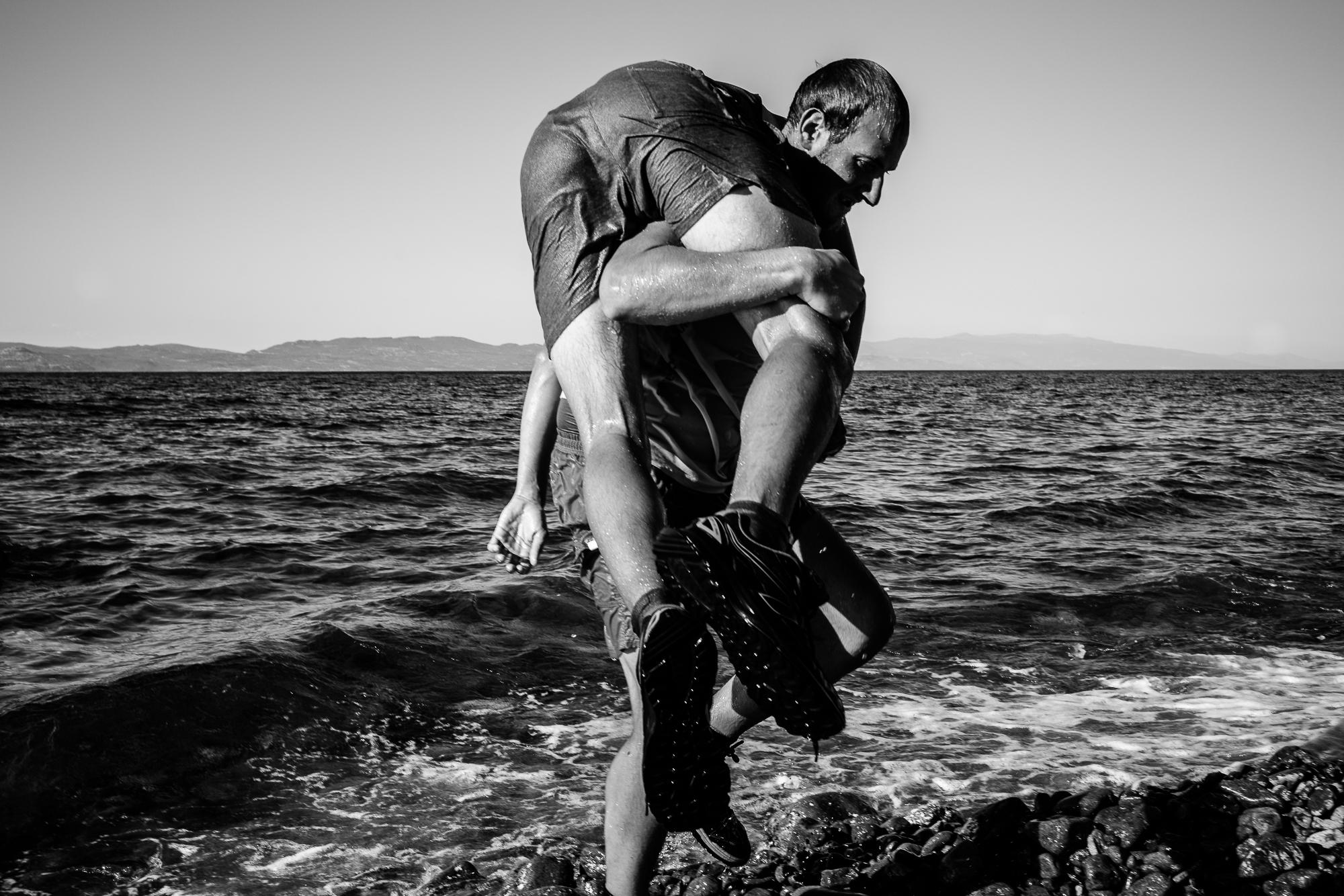 Lifesaver training for volunteers. Lesvos, Greece, 2016