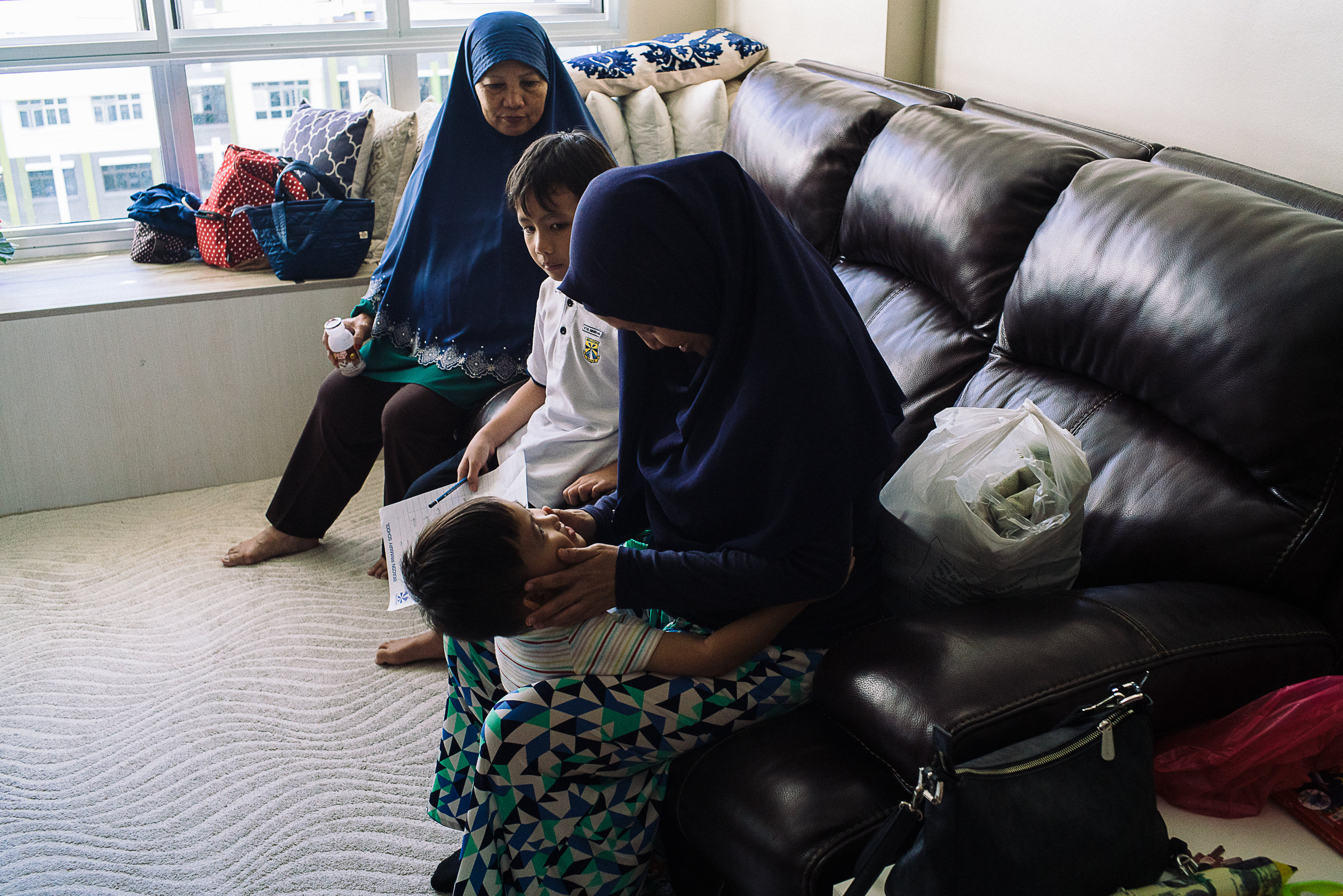 Upon being discharged, Hidayah's youngest son, Ihsan, 4 years old, came running in to hug his mother and asked where is the baby.  Hana continues to be warded in the NICU.