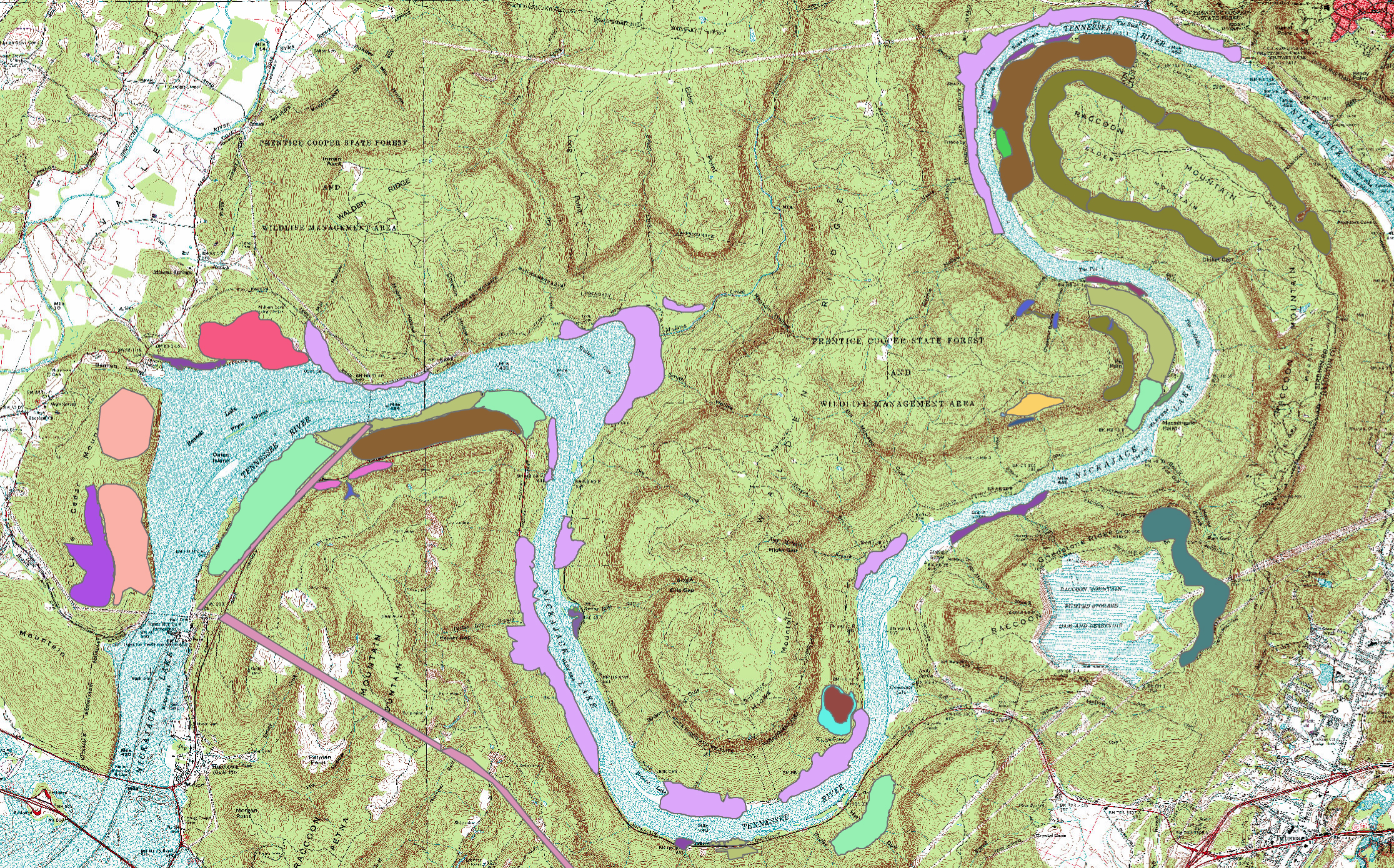 IN PROGRESS: Ground-Truthed Ecological Communities of the Tennessee River Gorge as of June 1, 2015