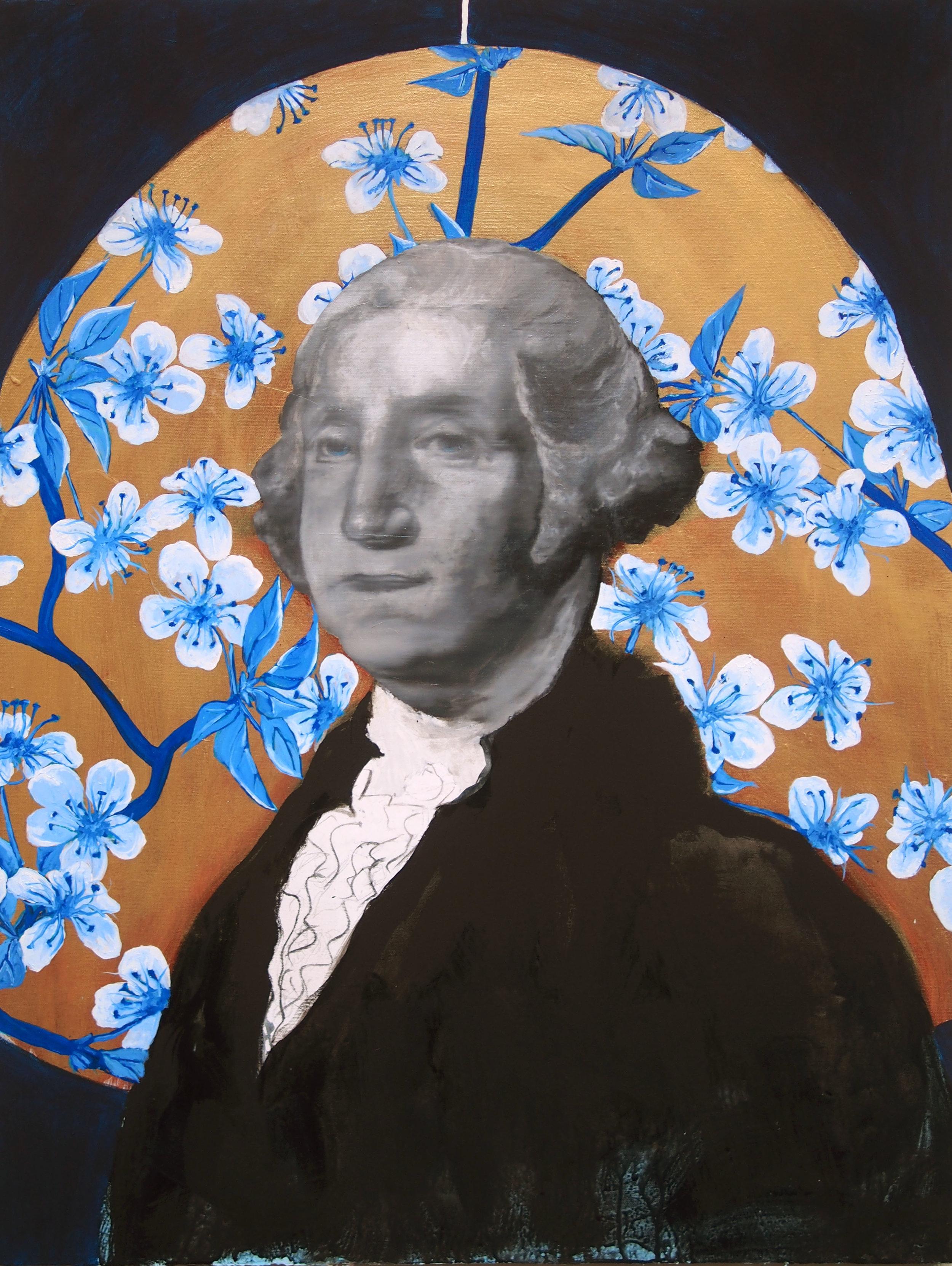 george washington cherry blossom painting