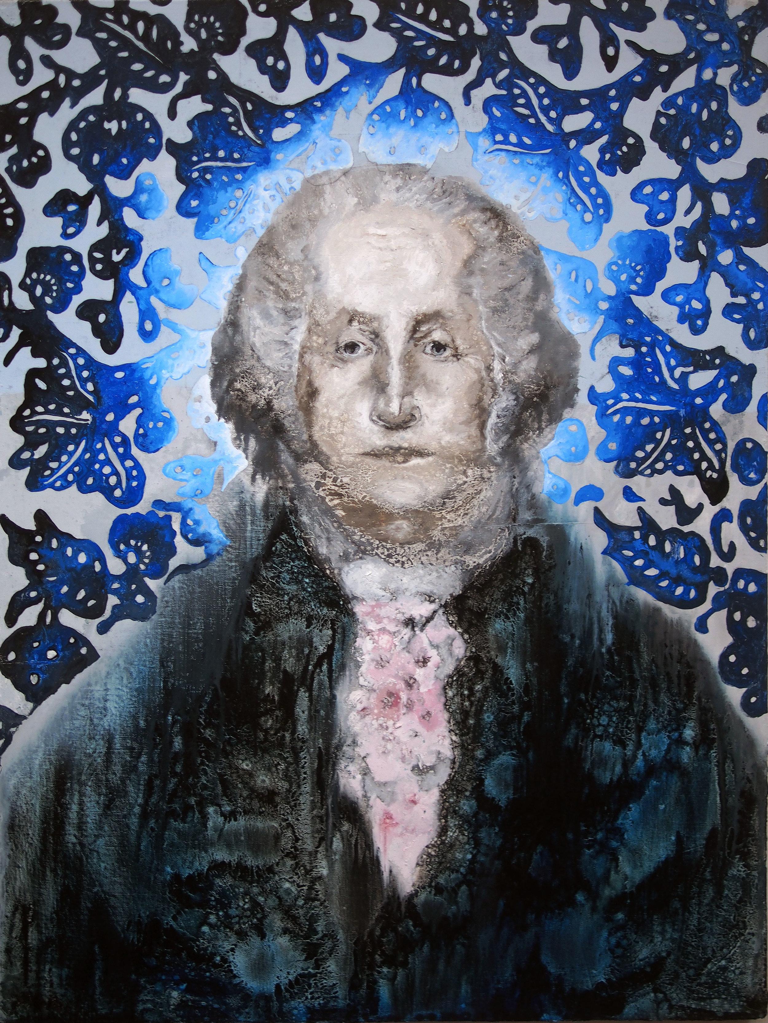 contemporary george washington painting